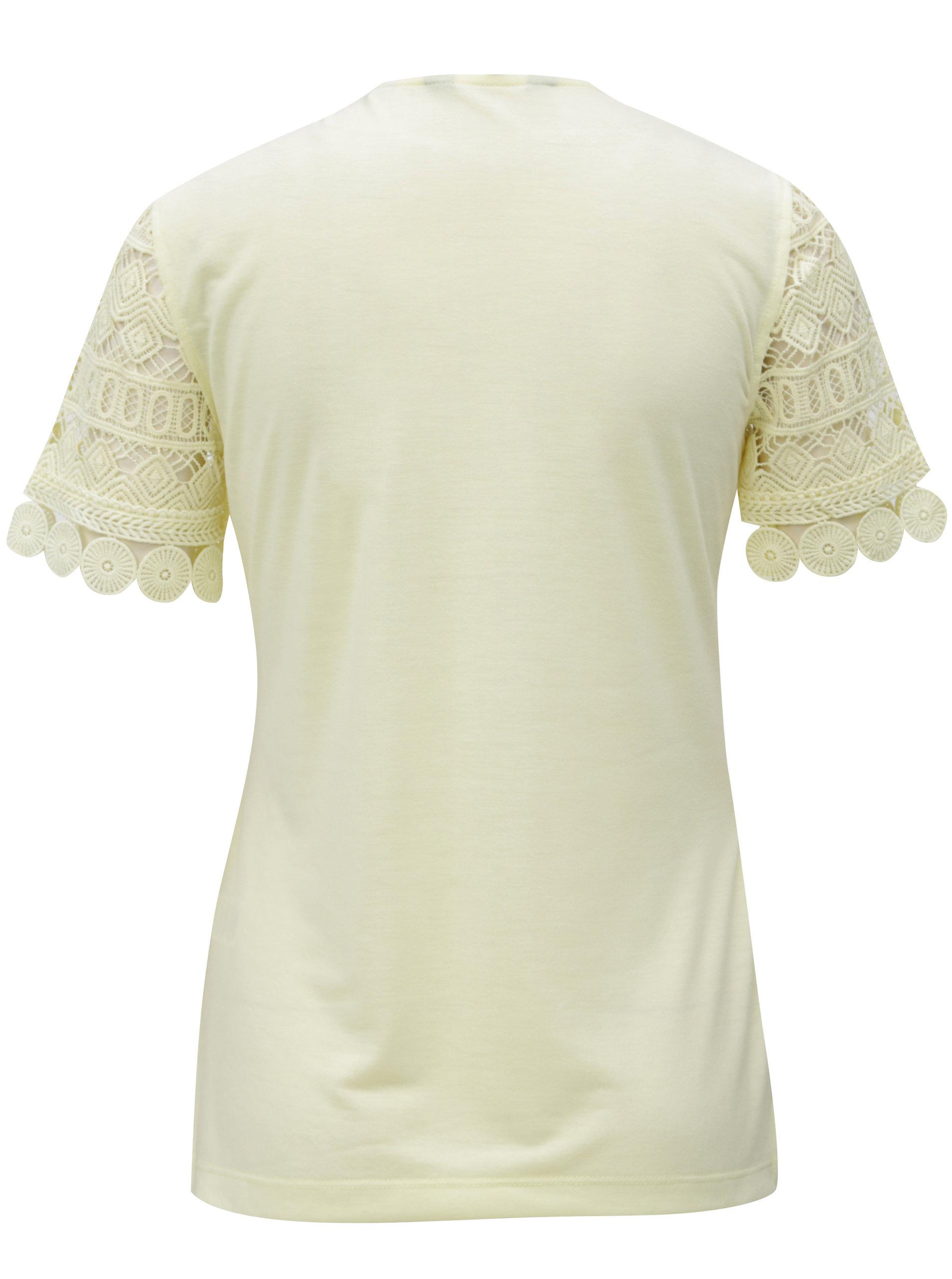 Žlté čipkované tričko Dorothy Perkins Tall ... 27c08f16263