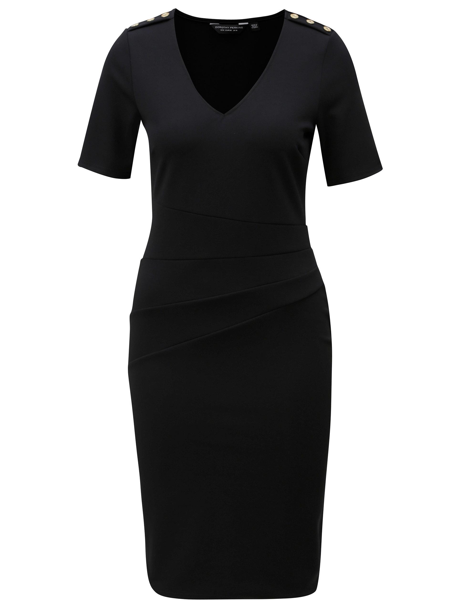 Čierne puzdrové šaty Dorothy Perkins ... 7fe21739925