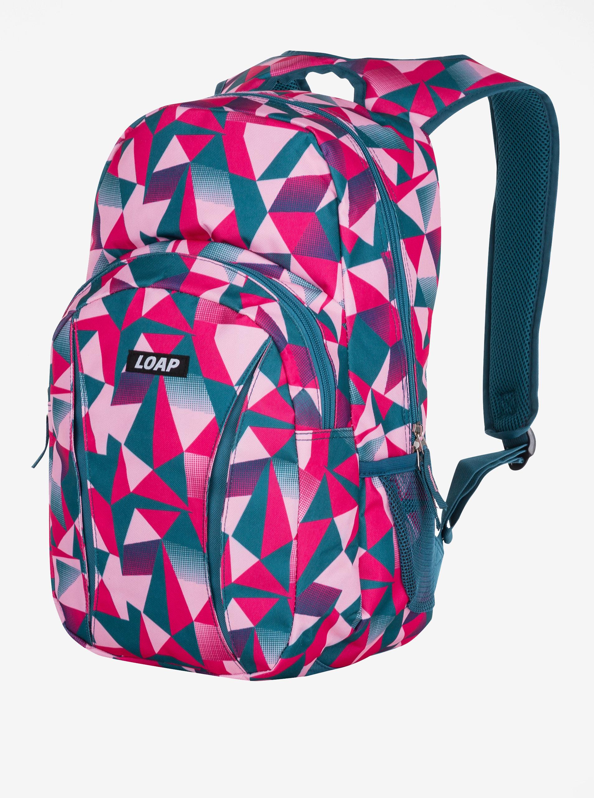 Petrolejovo-růžový vzorovaný batoh LOAP Asso 20 l ... 8f83e43bbd