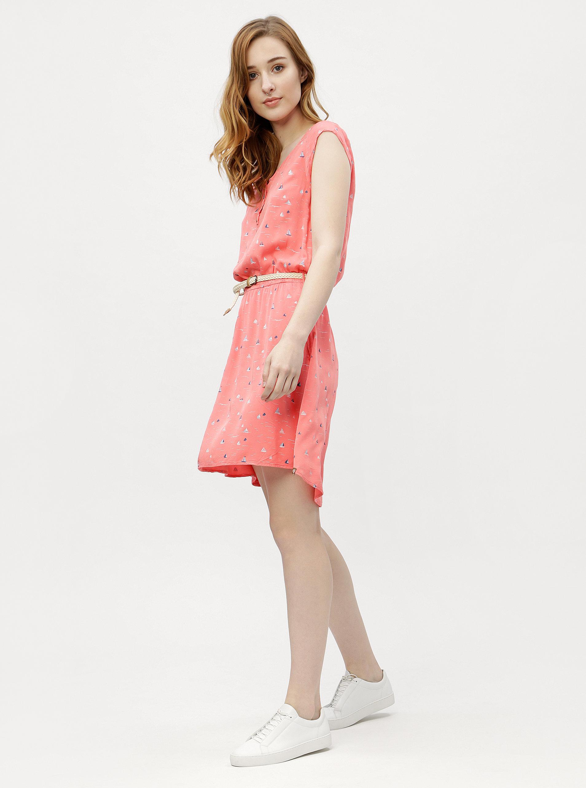 05c5d80e9c7e Ružové dámske vzorované šaty Ragwear Zephie ...