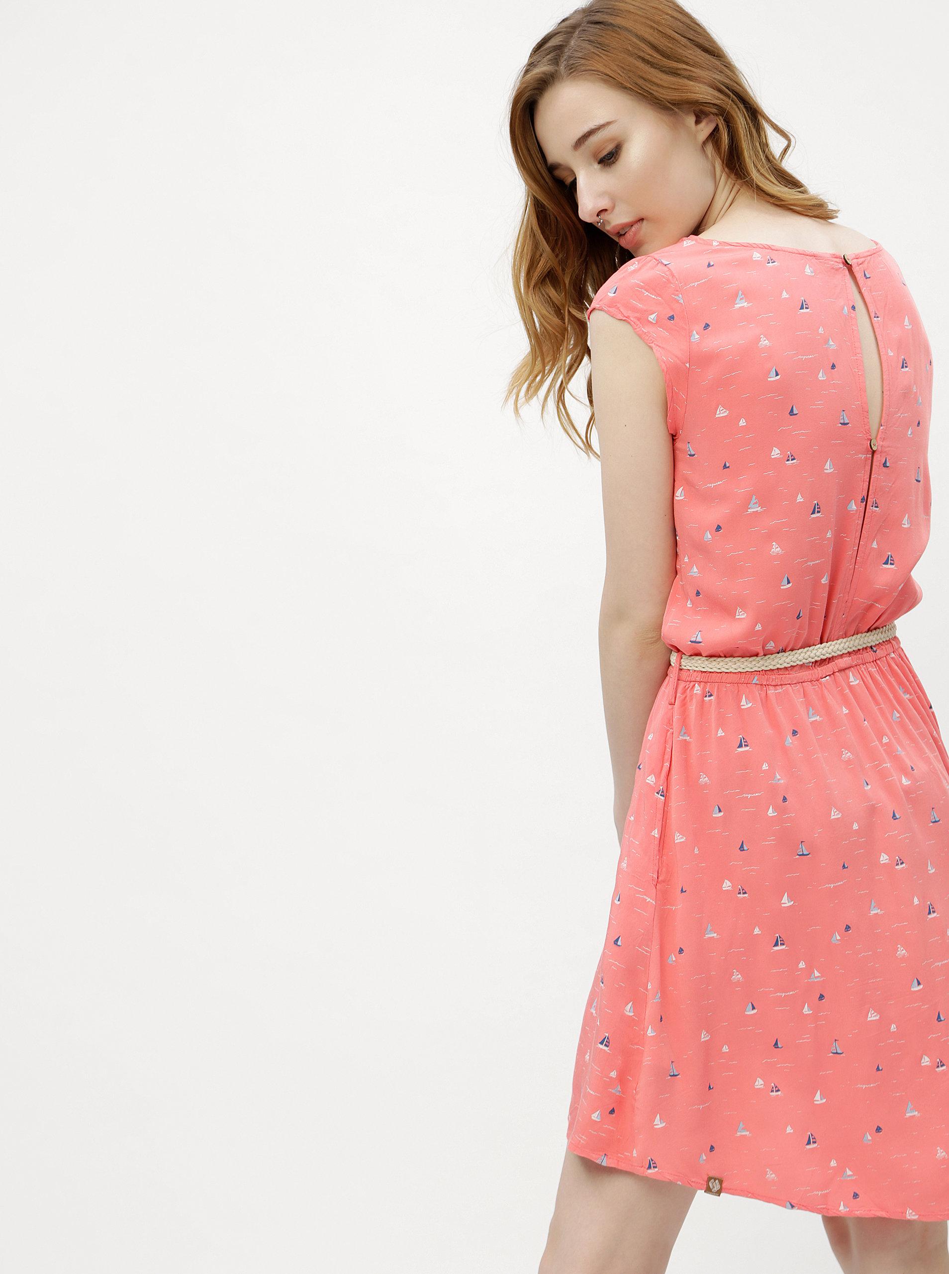 74b04b0086aa Ružové dámske vzorované šaty Ragwear Zephie ...