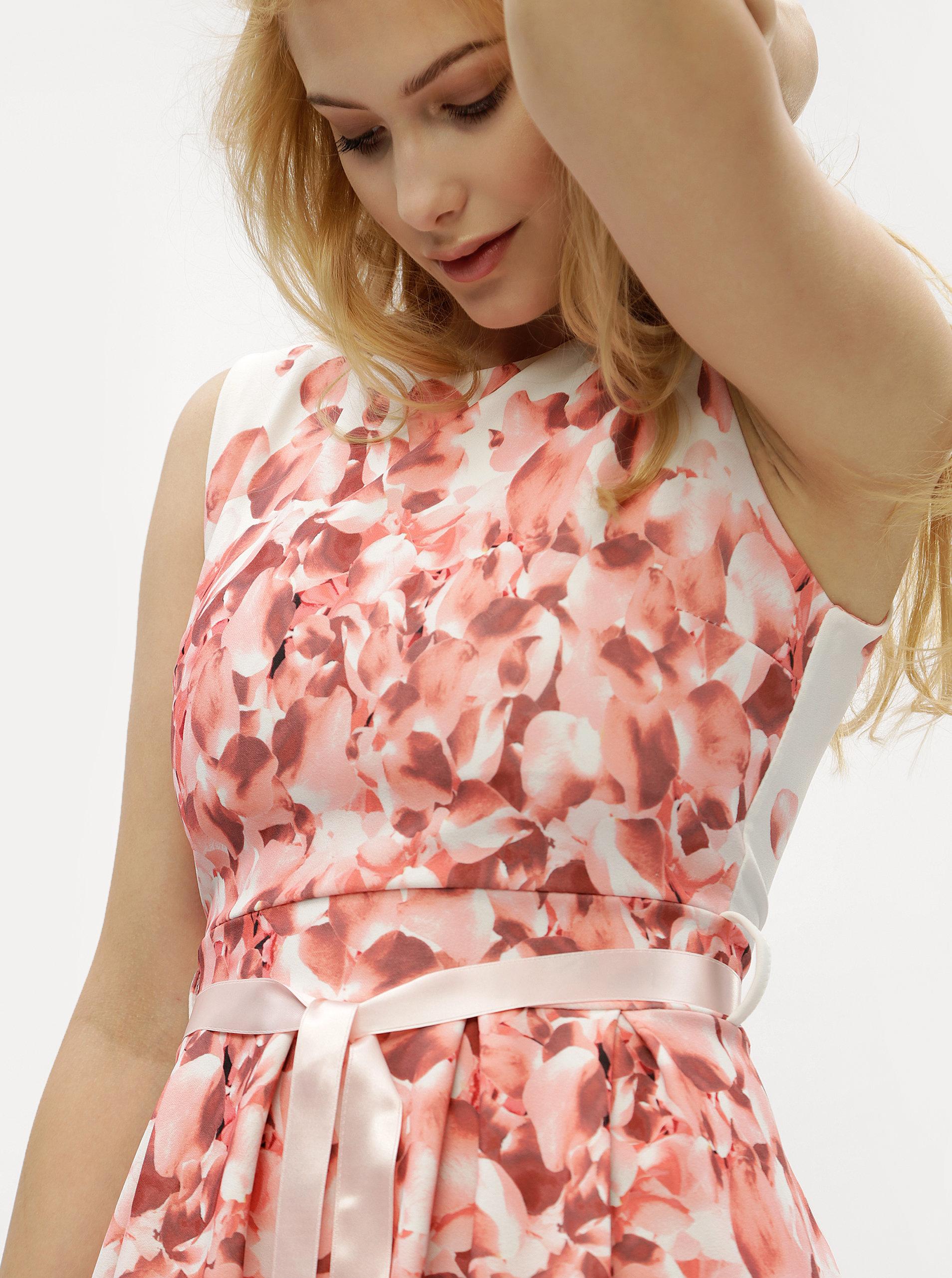 Bílo-růžové květované šaty Haily´s Rosy ... 705af507b4
