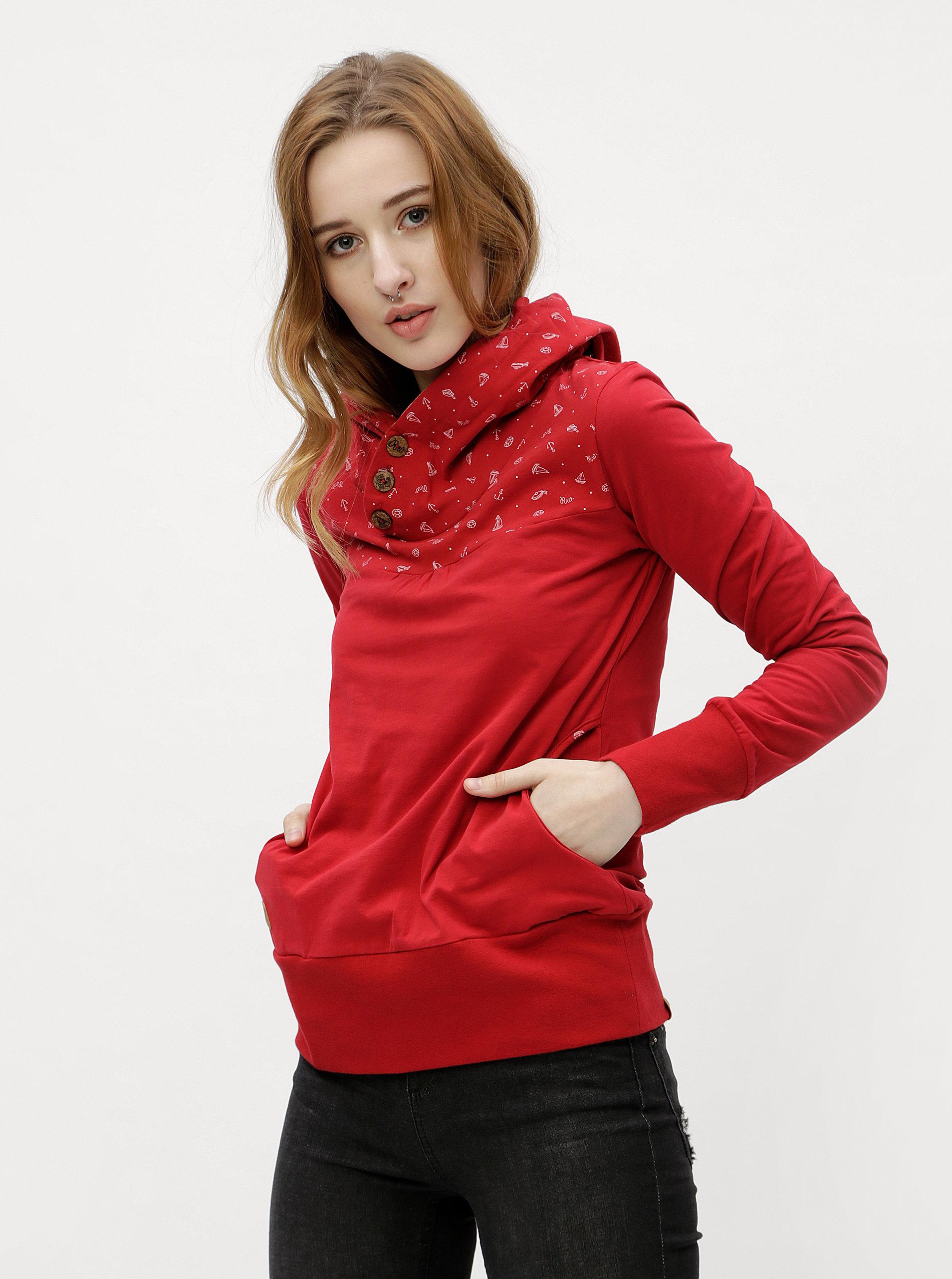 fb70b28e2a1c Červené dámske tričko s dlhým rukávom Ragwear Lucie ...