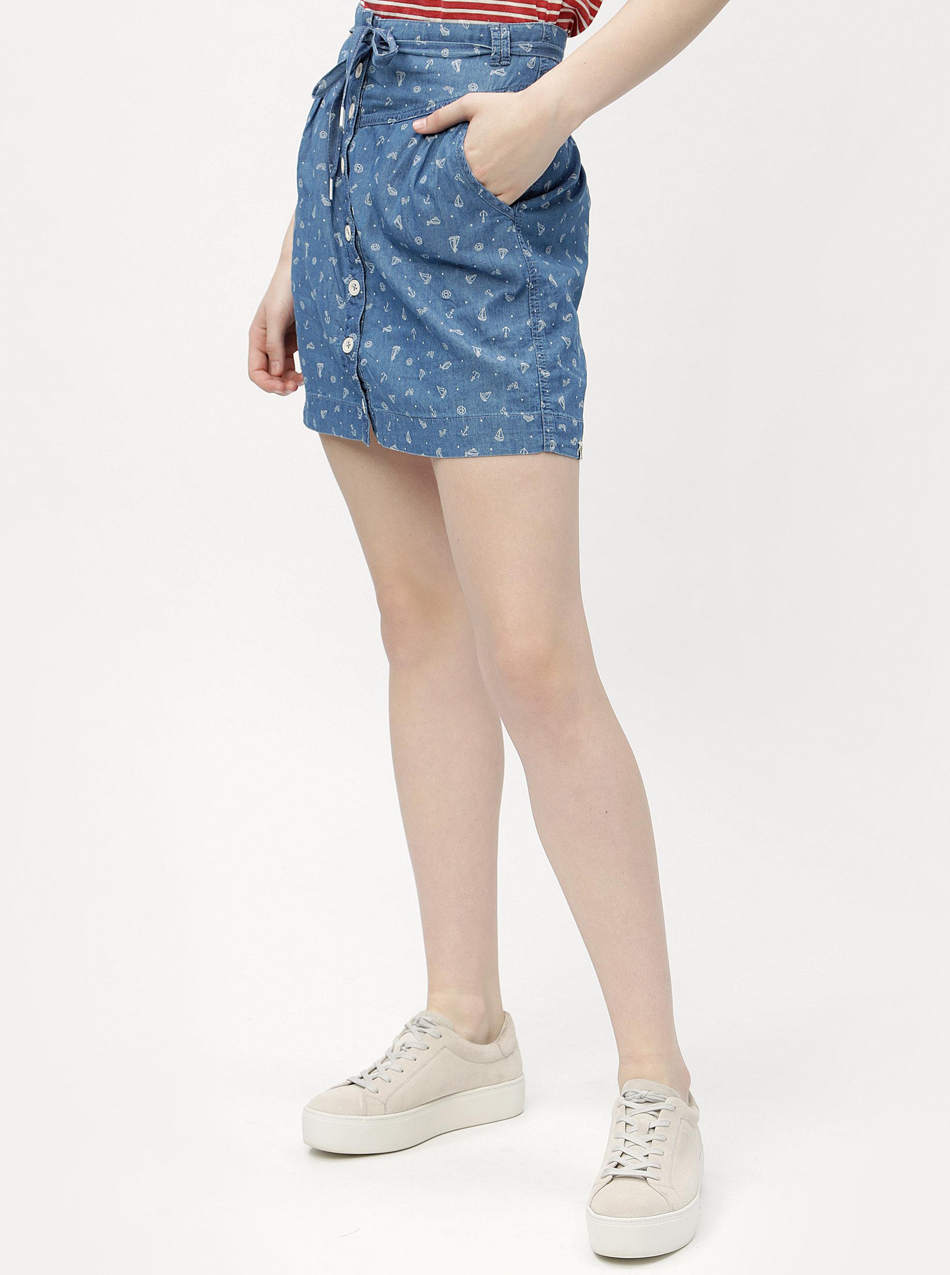 a5295fb6b4b7 Modrá sukňa s potlačou Ragwear Nina ...