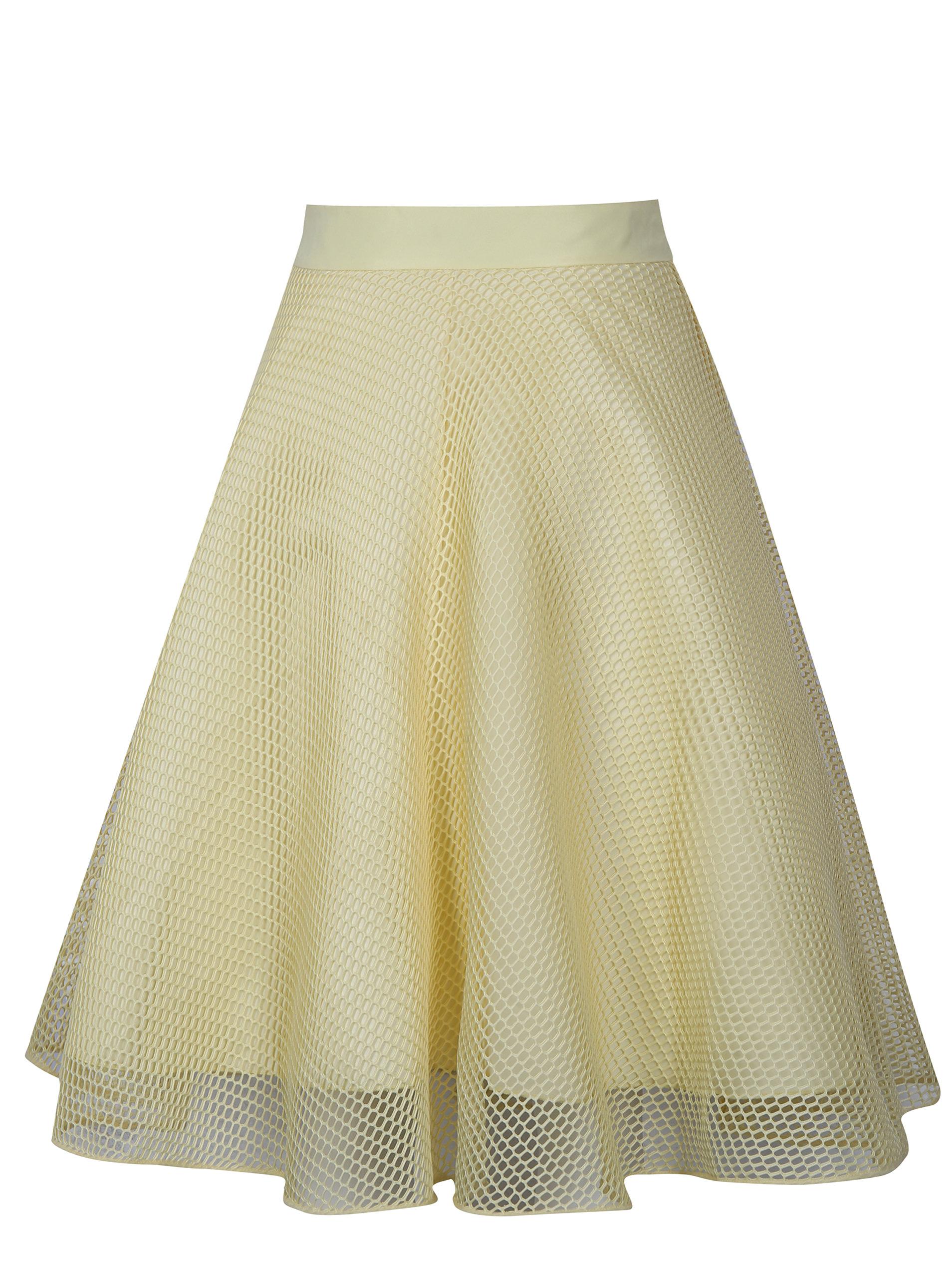 Žlutá sukně Chi Chi London Grayce ... 5a701b0a95