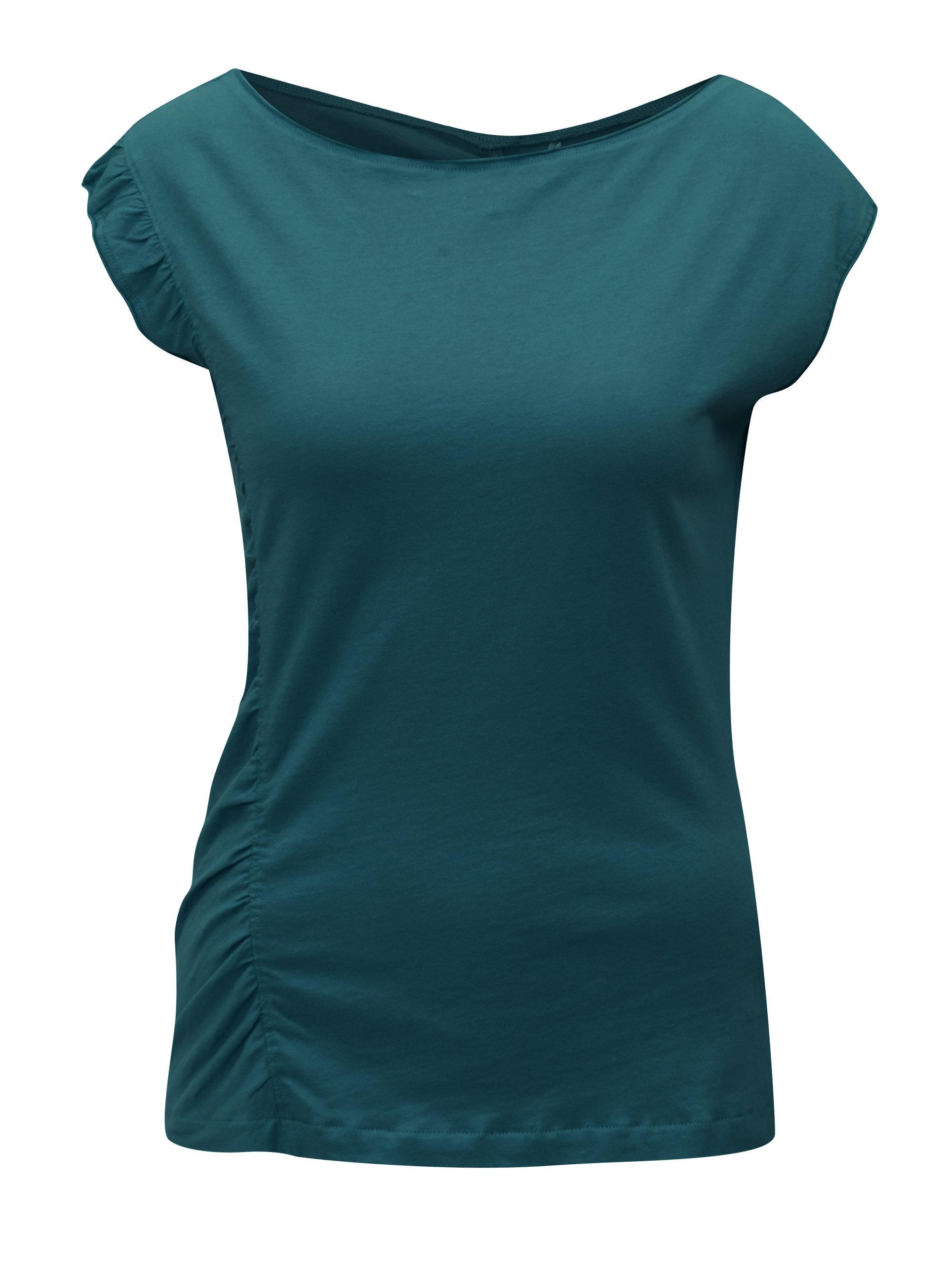 Zelené tričko s volánom SKFK Hamasei ... e63db56589