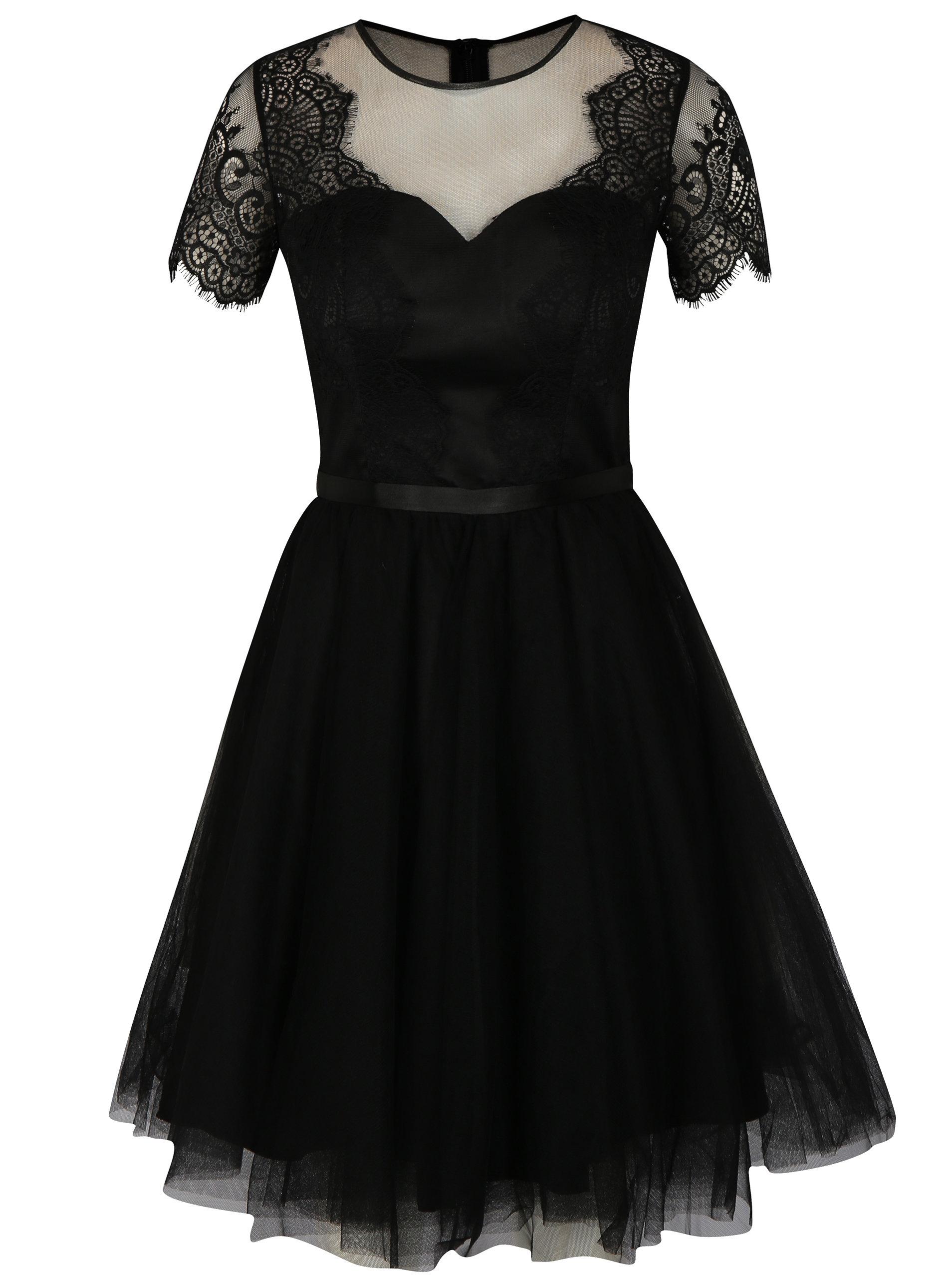 e548c7542473 Čierne čipkované šaty Chi Chi London Siman ...