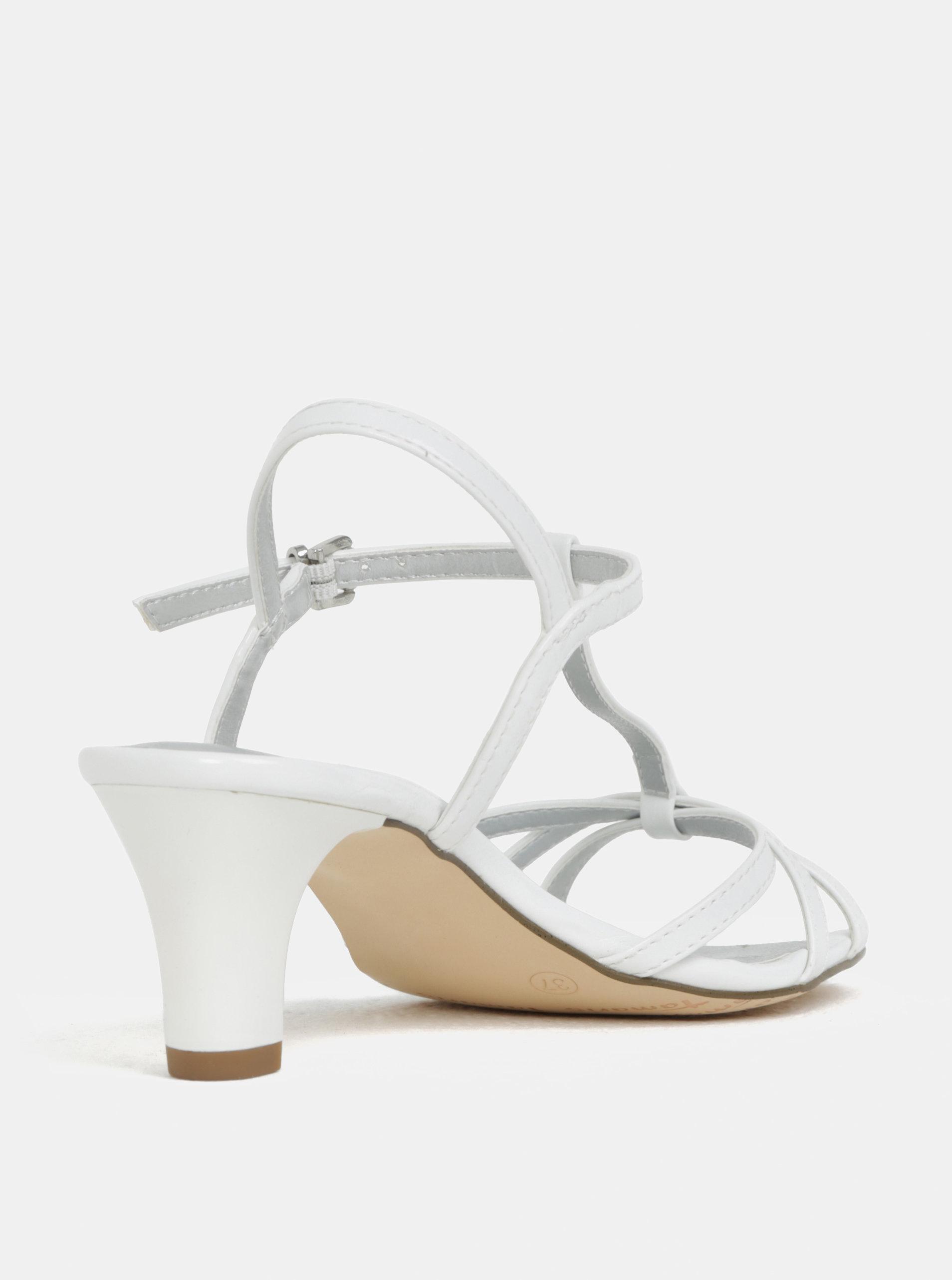 0ab1782490c Bílé sandálky na nízkém podpatku Tamaris ...