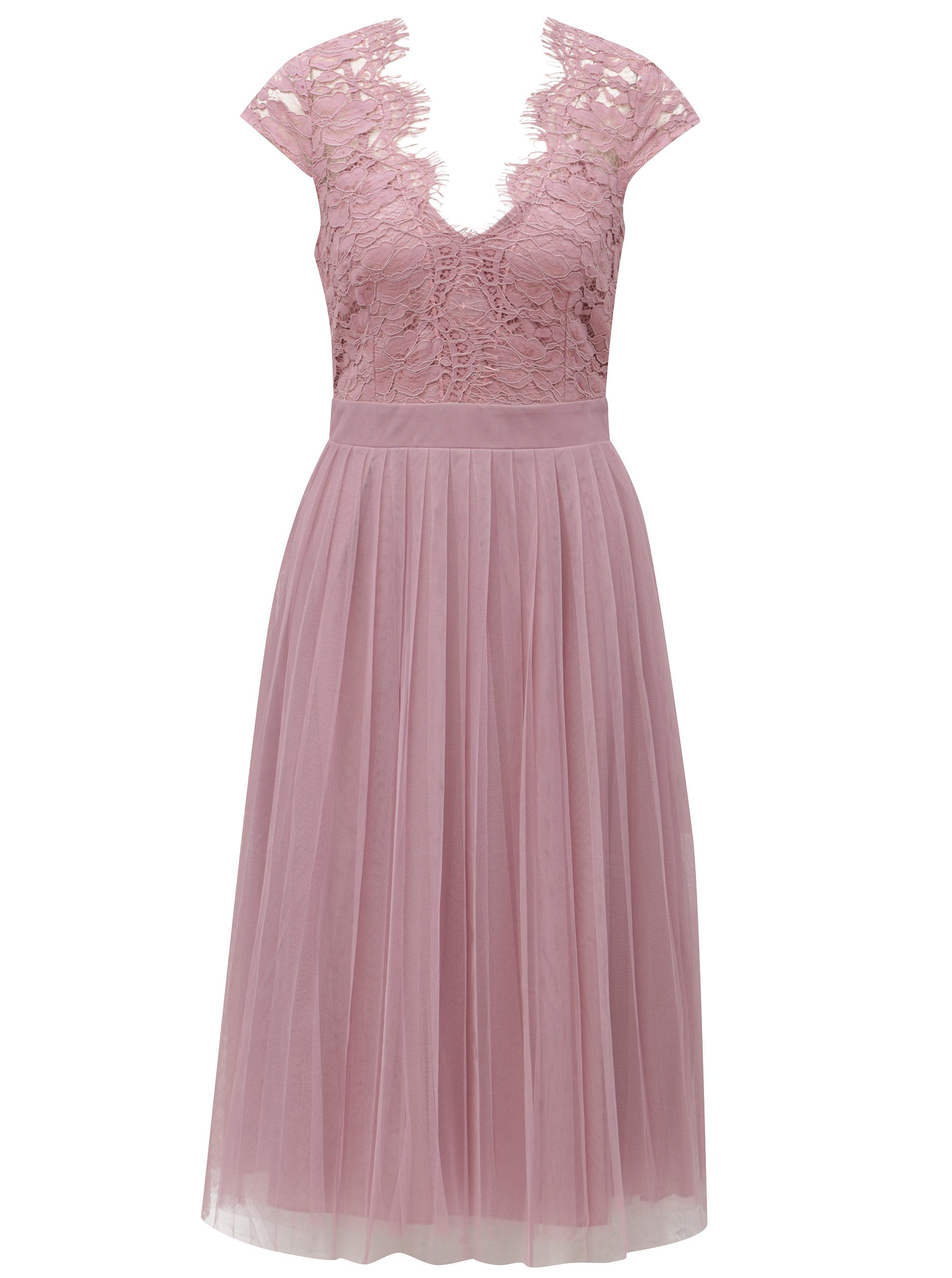 f24bf96058b5 Staroružové šaty s tylovou sukňou Little Mistress ...