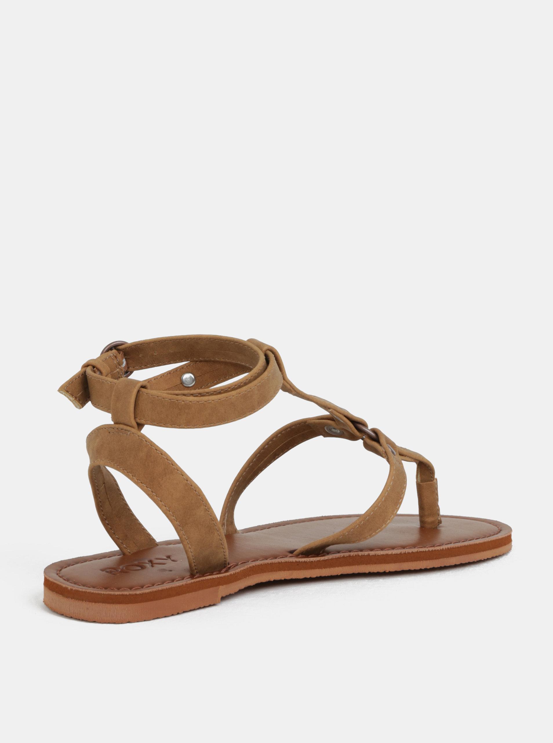 Hnědé dámské sandály Roxy Soria ... 0ad229c542