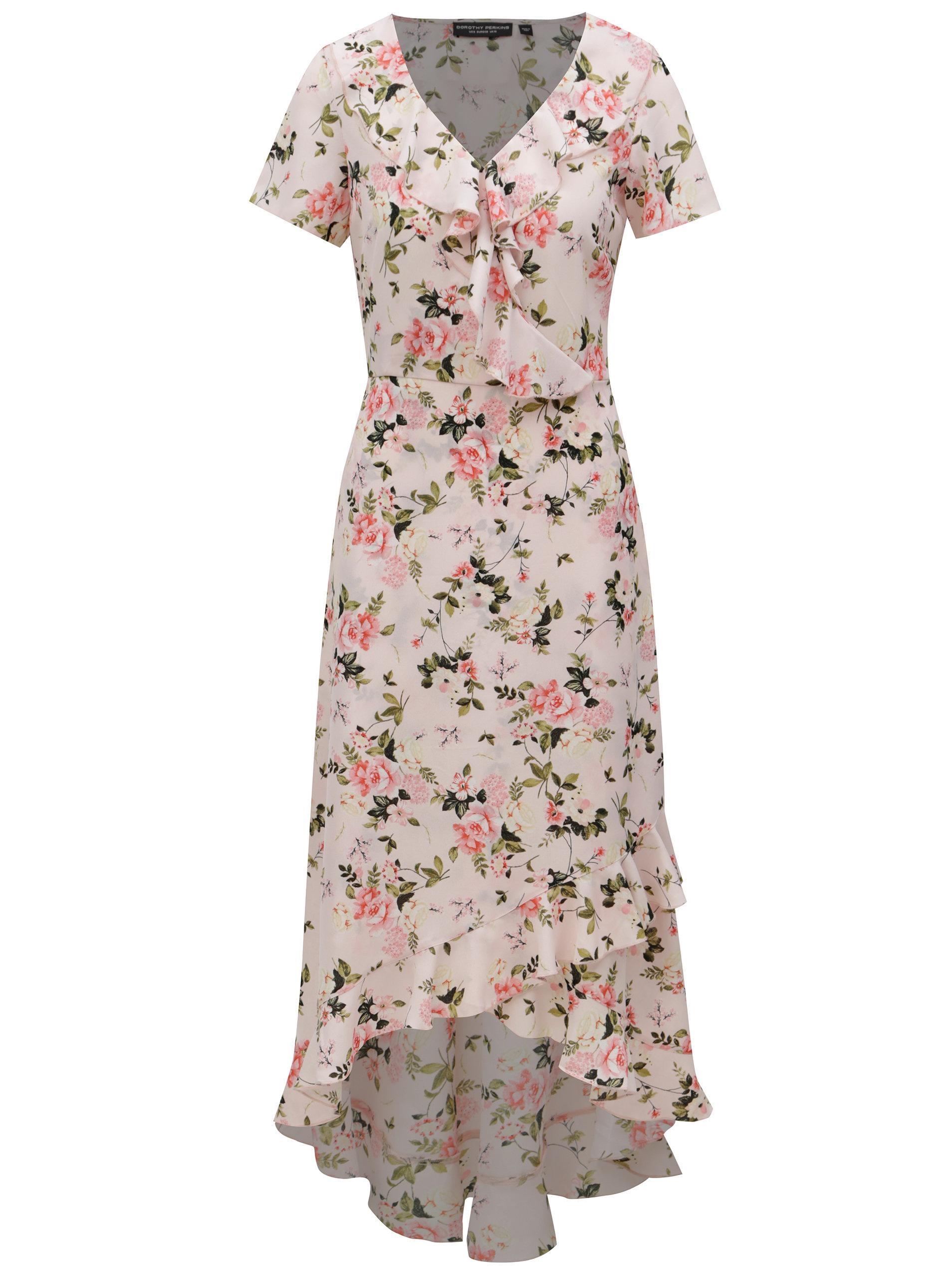 3d7b98d104ae Svetloružové kvetované maxišaty Dorothy Perkins ...