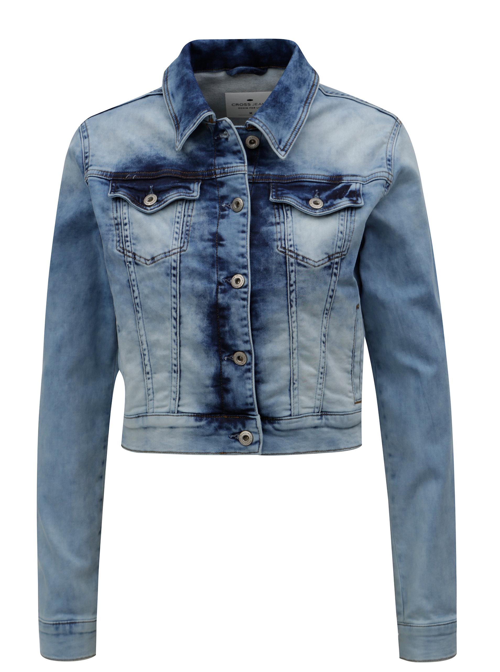d55440028ee5 Světle modrá dámská džínová bunda Cross Jeans ...