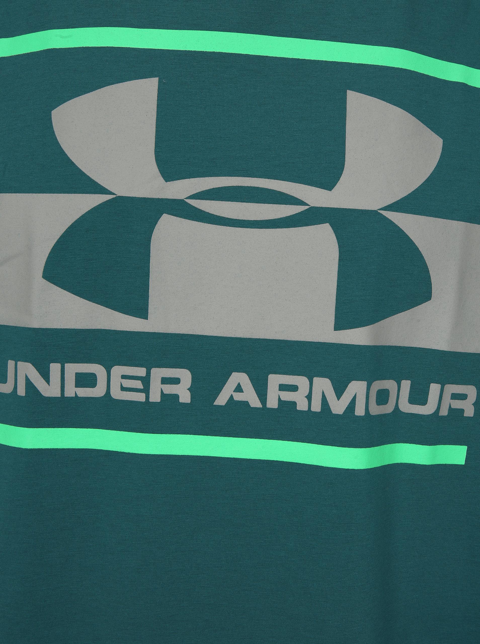 05e968fba275 Tyrkysové pánske funkčné tričko s potlačou Under Armour Blocked ...