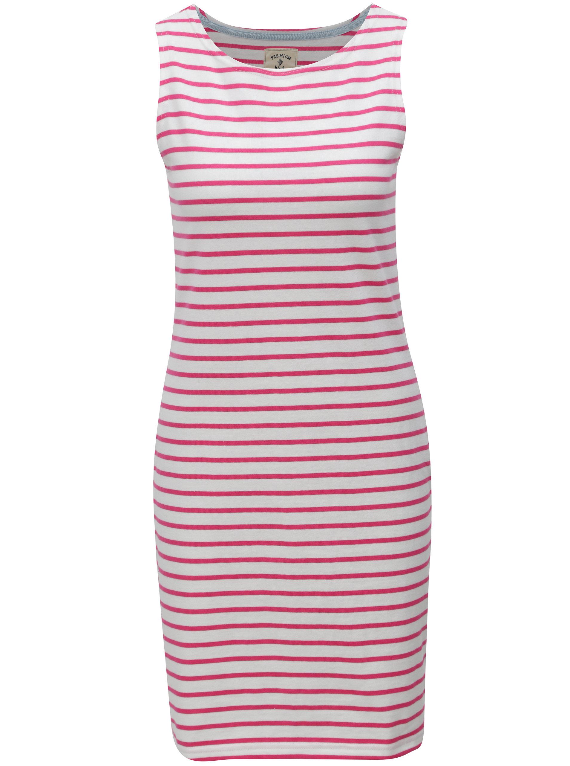 Ružovo–biele dámske pruhované šaty Tom Joule Jersey ... d86d4e12944