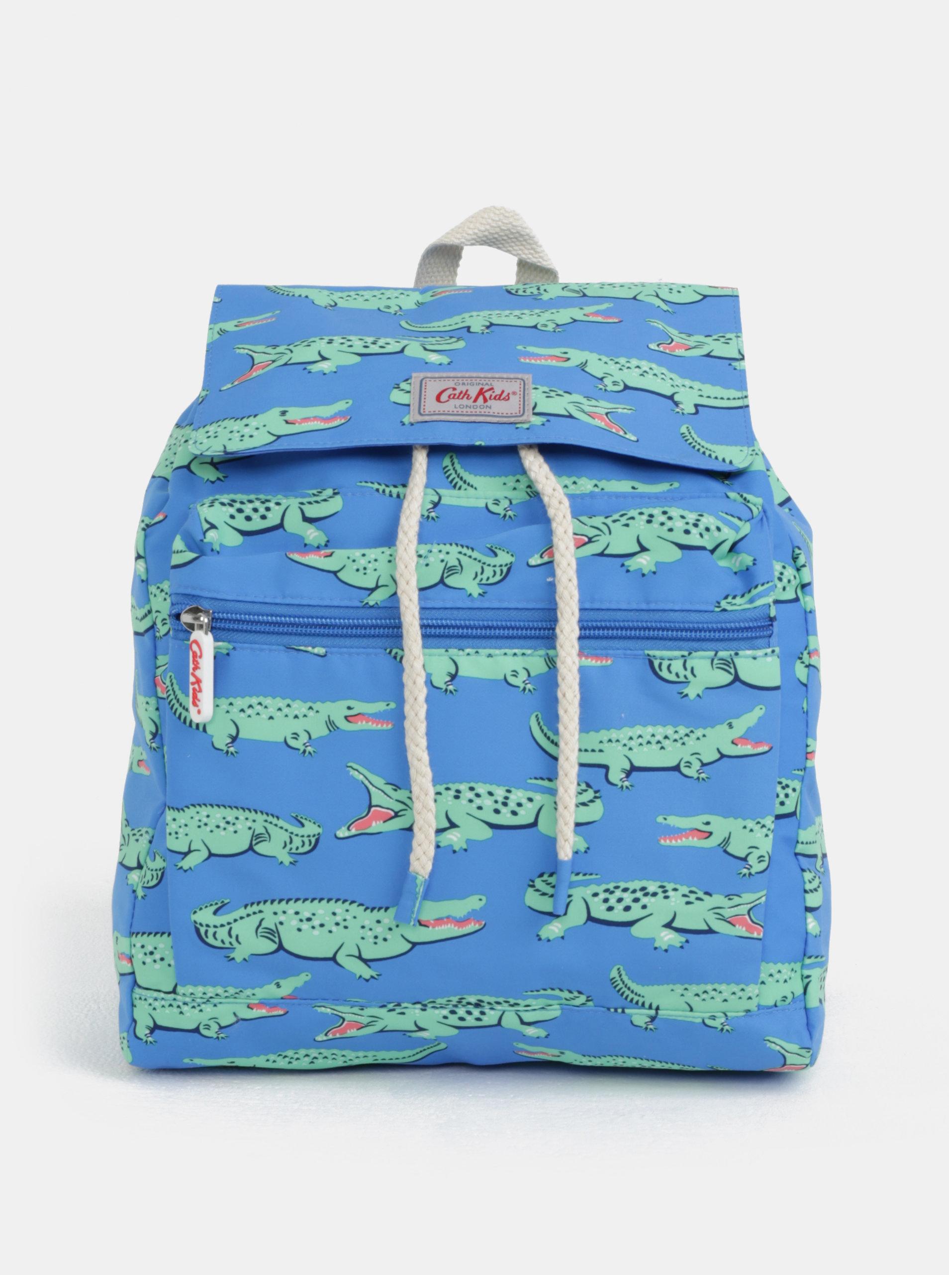 85d32bd5d18 Zeleno-modrý klučičí batoh s potiskem krokodýlů Cath Kidston - SLEVA ...