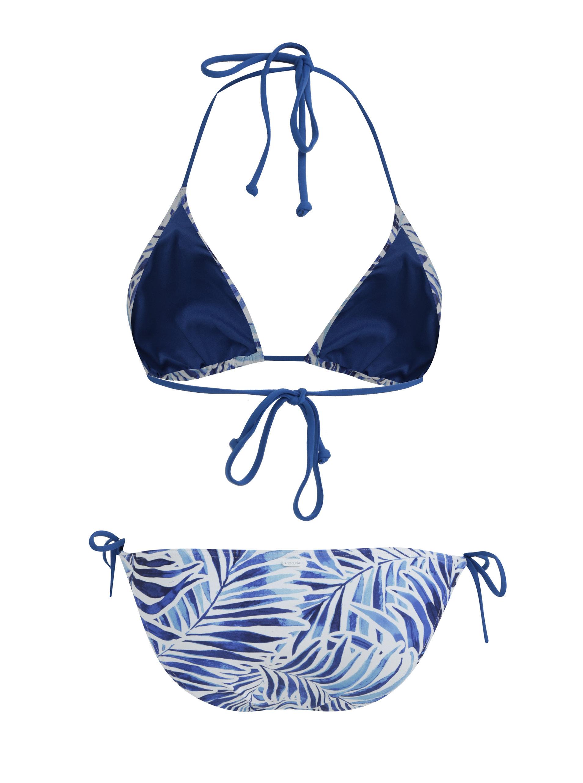 058bb35dba4 Bílo-modré dámské vzorované dvoudílné plavky Rip Curl ...