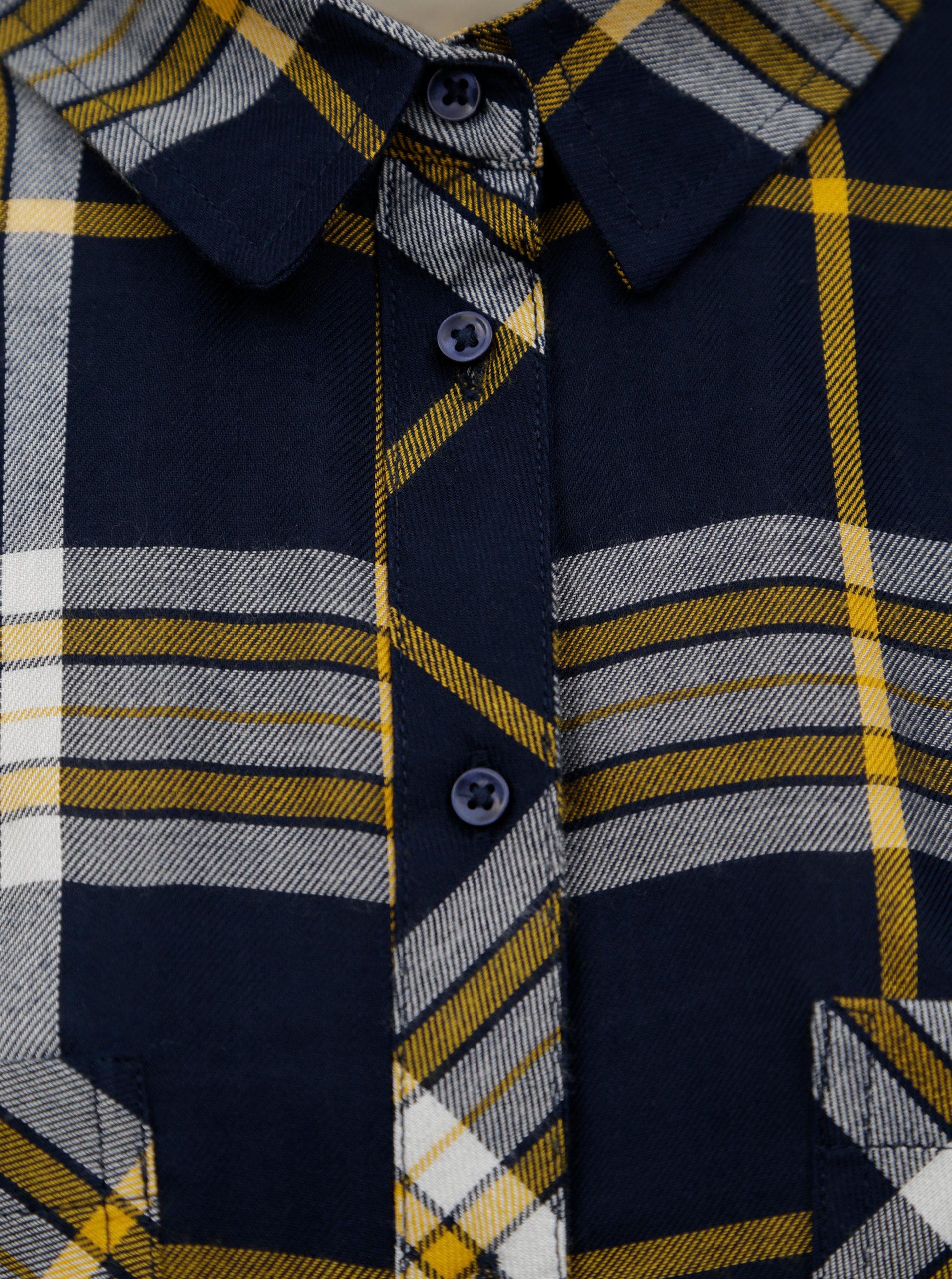 Žluto-modrá kostkovaná košile TALLY WEiJL ... 59692028c4