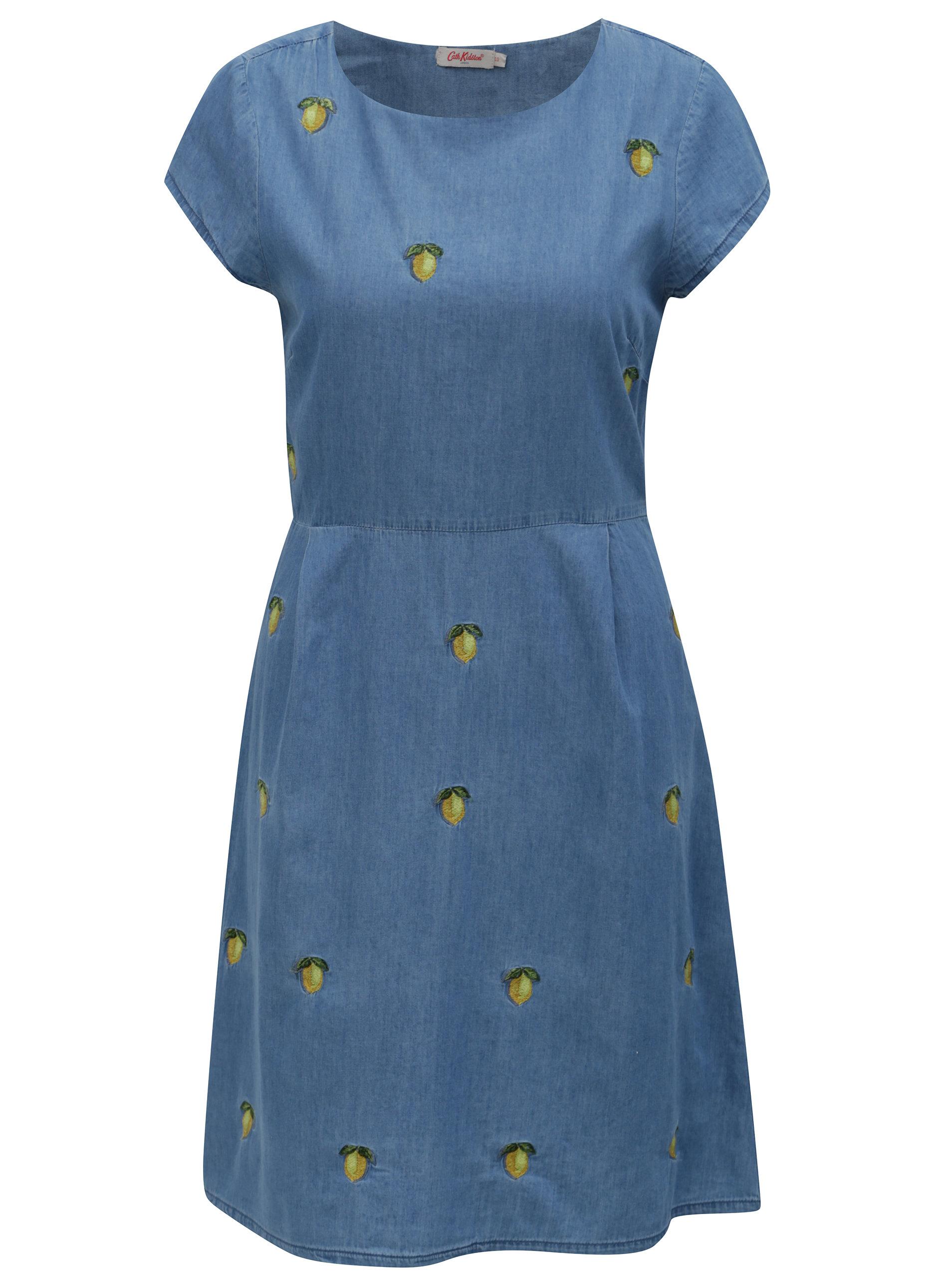 d6d3f93db Modré dámske rifľové šaty s motívom citrónov Cath Kidston | ZOOT.sk