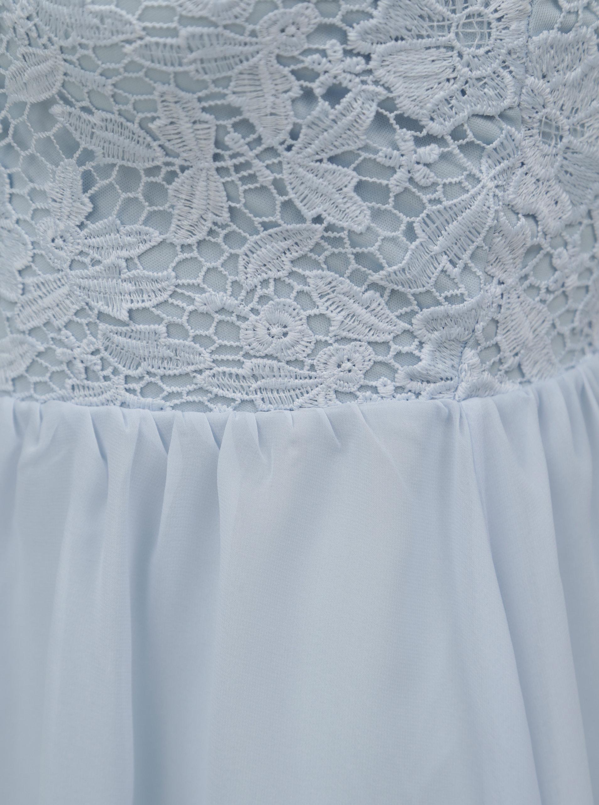 62d5aca9ae9 Světle modré šaty s krajkovým topem TALLY WEiJL ...