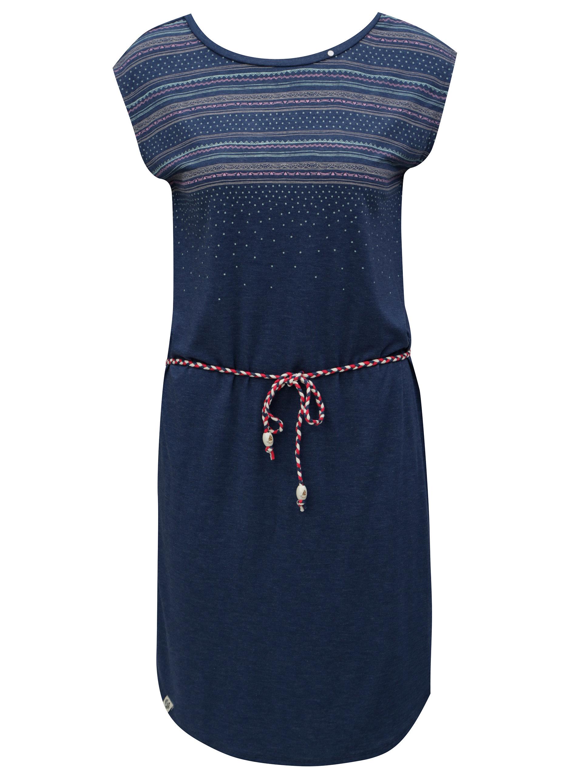 Tmavomodré šaty so vzorom Ragwear Valencia ... eb52dacd02c