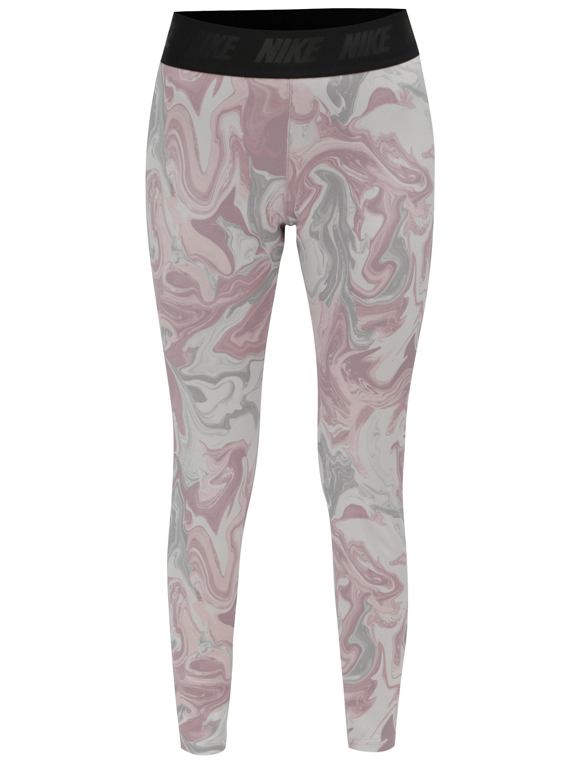 9dcab501d270 Šedo-růžové vzorované legíny Nike ...