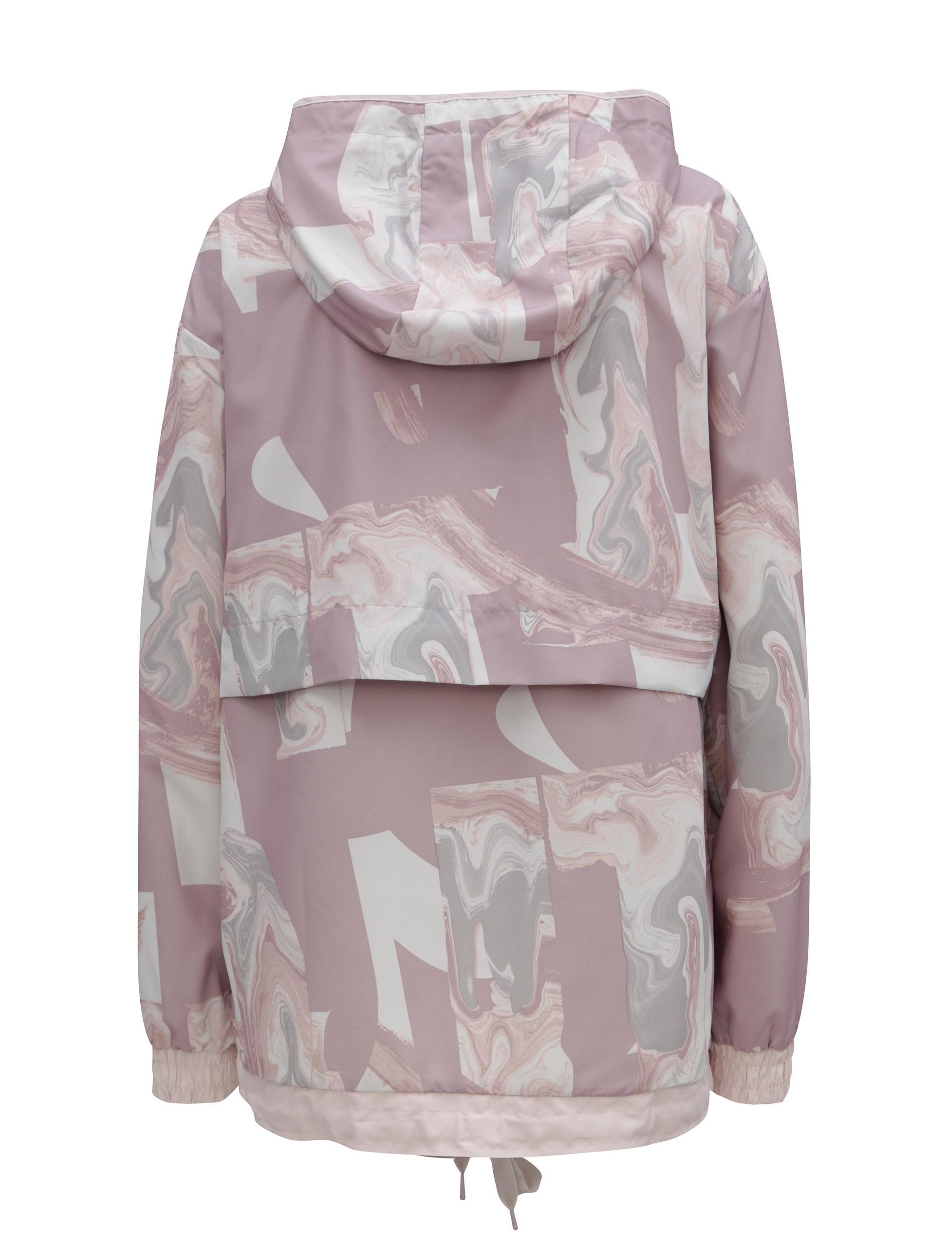 Sivo–ružová dámska vzorovaná bunda Nike ... 088c2c091d3