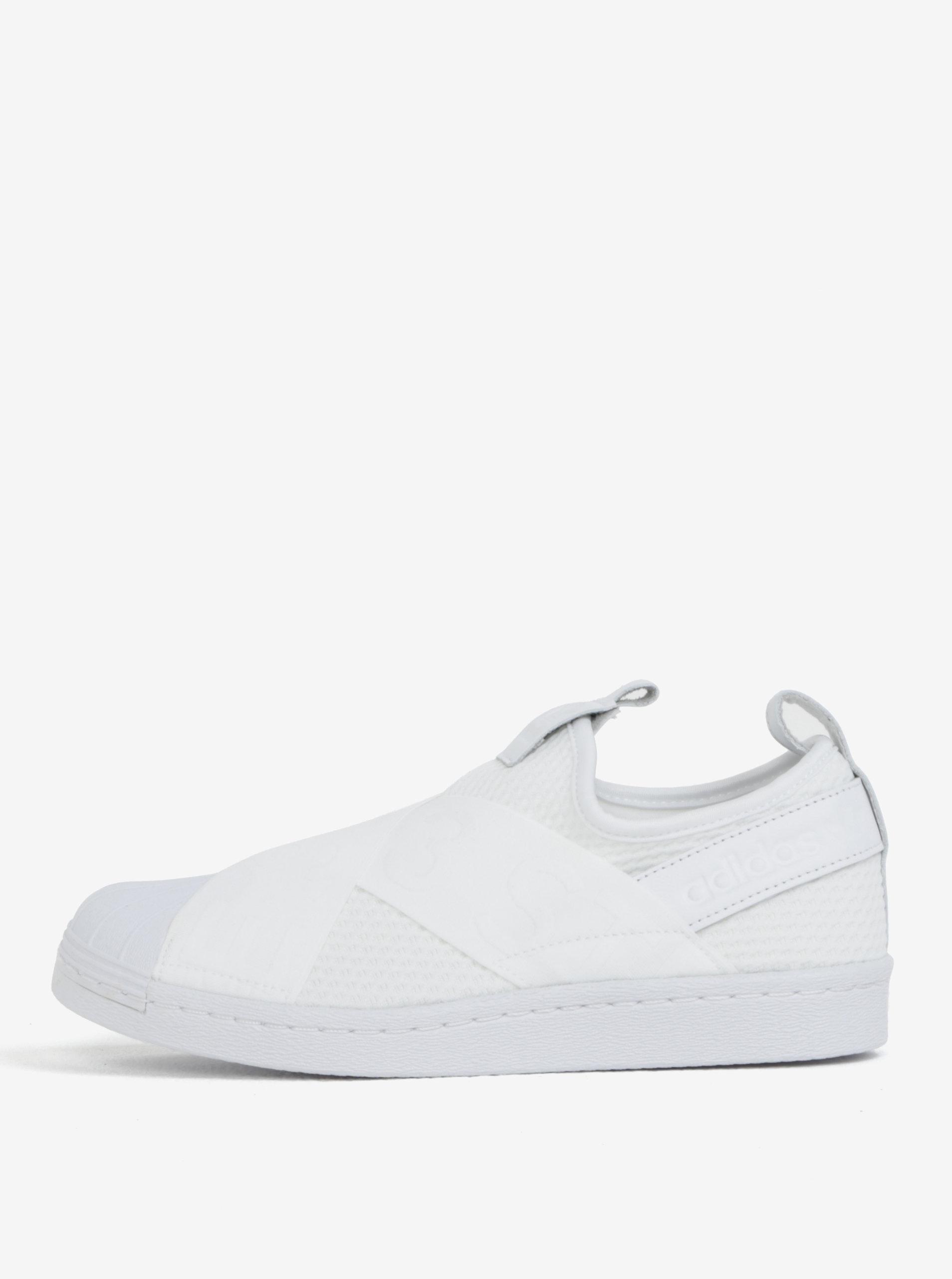 2550620ce23d2 Biele dámske slip on s koženými detailmi adidas Originals Superstar ...