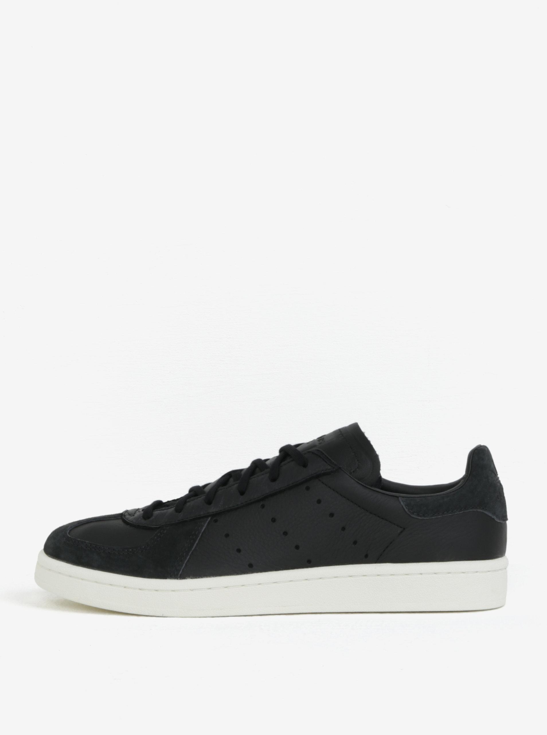 Čierne pánske kožené tenisky adidas Originals Avenue ... 8e46f93a017