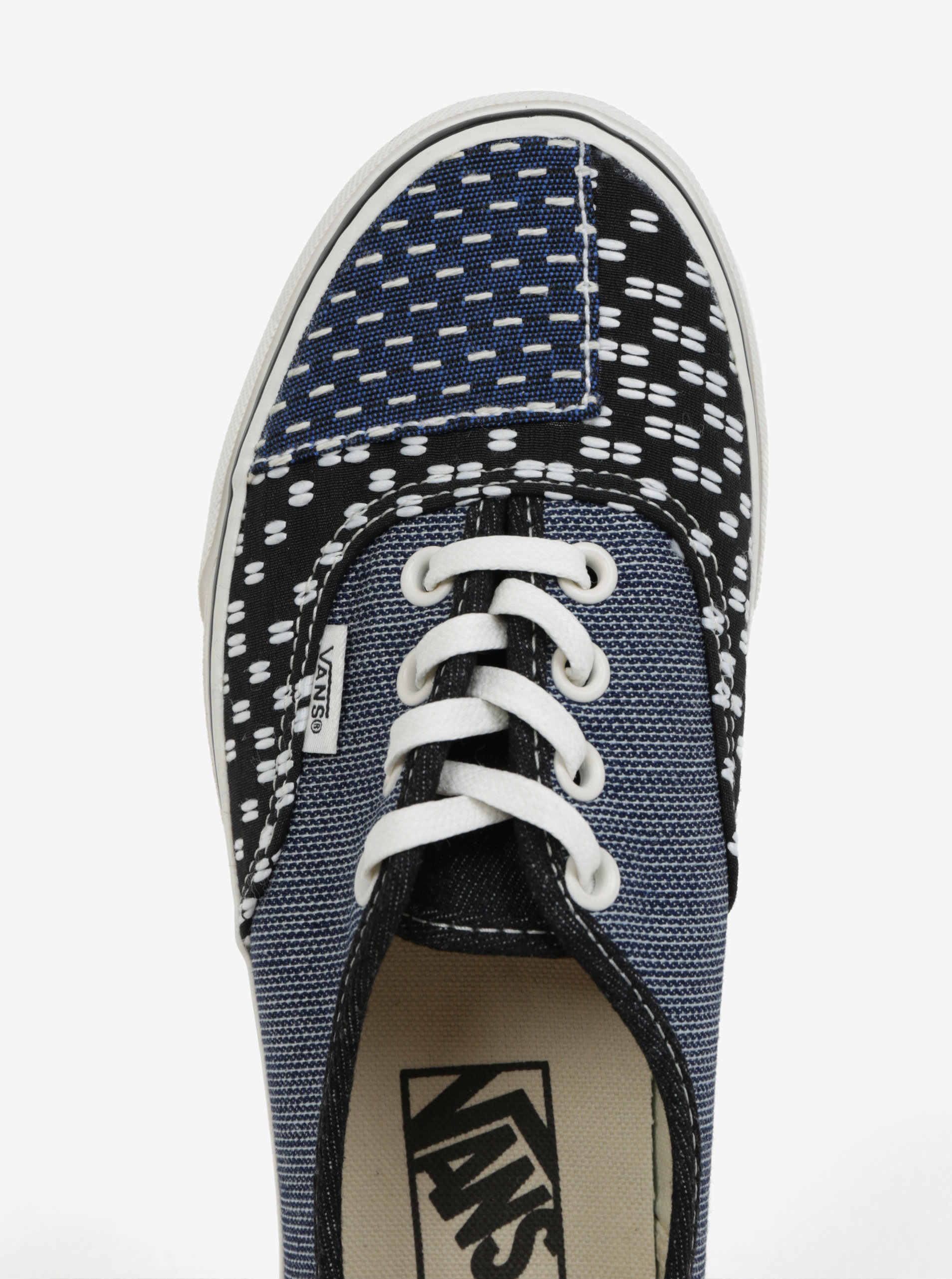 Modro-černé dámské vzorované tenisky VANS Classic ... 0fbdc83860