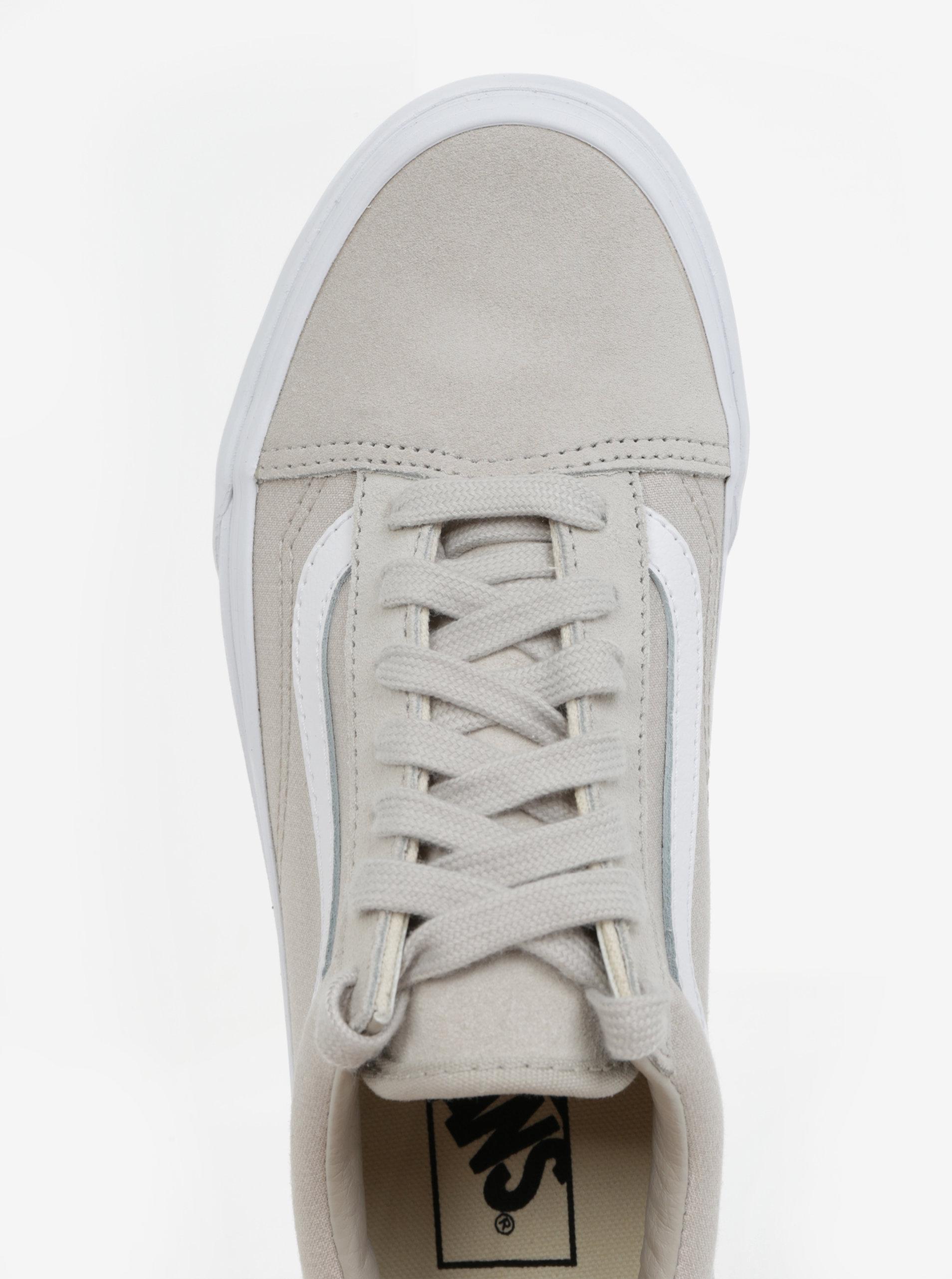 ... Světle béžové dámské tenisky se semišovými detaily VANS Old Skool ... 70ed540b51