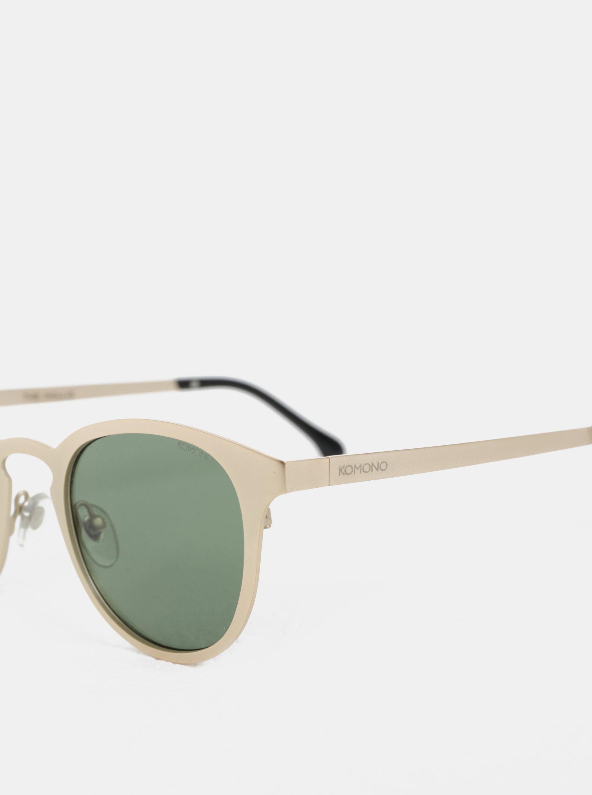 c7f036f88 Unisex slnečné okuliare v zlatej farbe Komono Hollis ...
