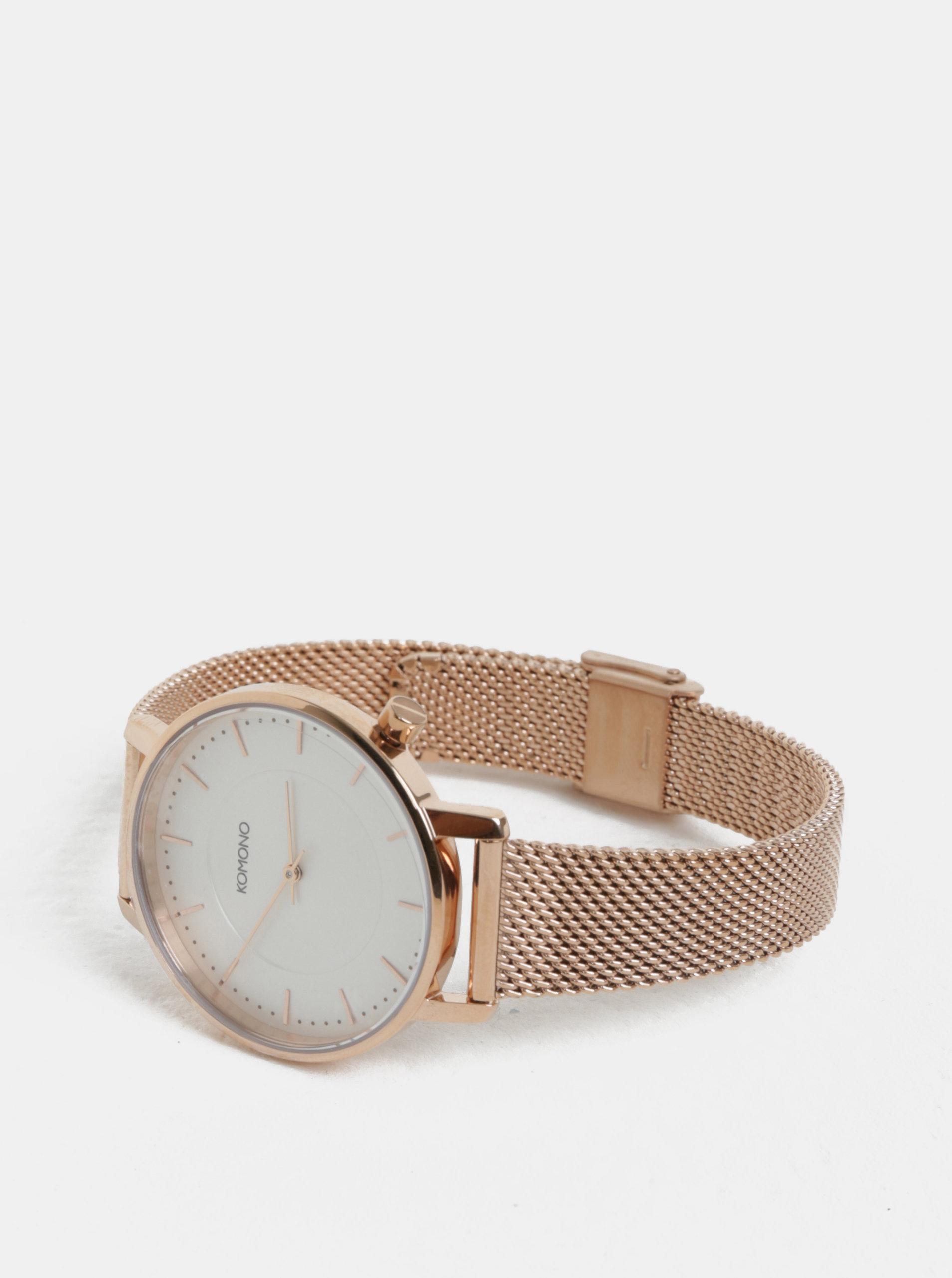 5b2ecaf4e30 Dámské hodinky v růžovozlaté barvě Komono Harlow - Akční cena ...