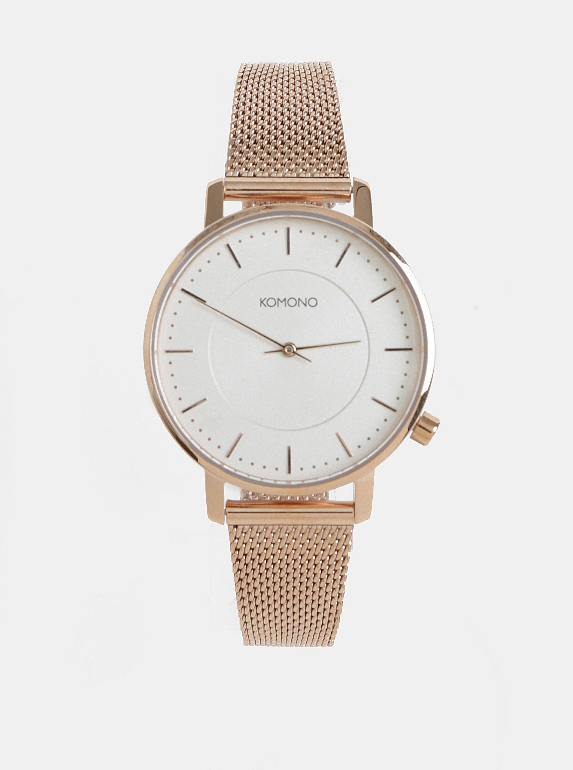 Dámské hodinky v růžovozlaté barvě Komono Harlow - Akční cena ... 90c99d0e39