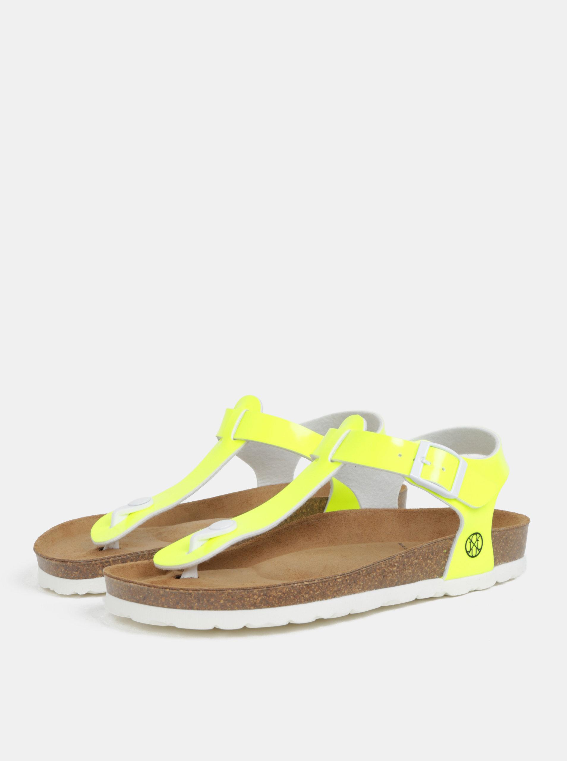 3b928a68b753 Neónovožlté dámske sandále OJJU ...