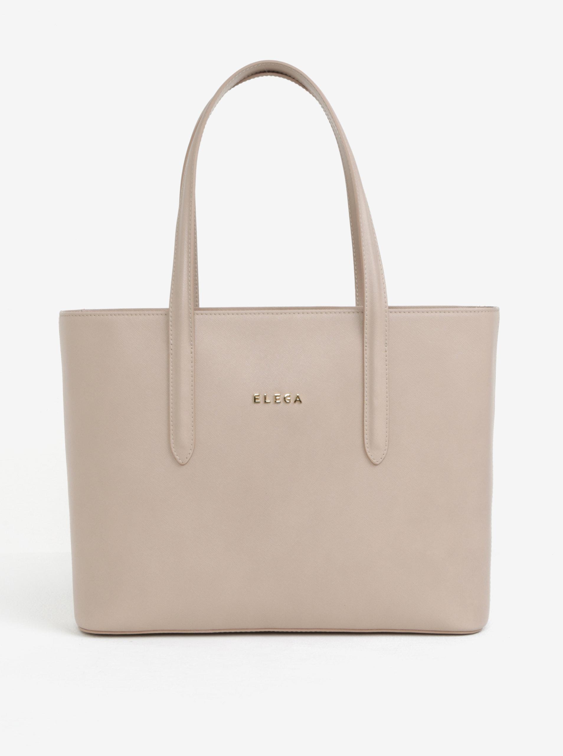 ec0768dd16 Béžová kožená kabelka cez rameno ELEGA Simone ...