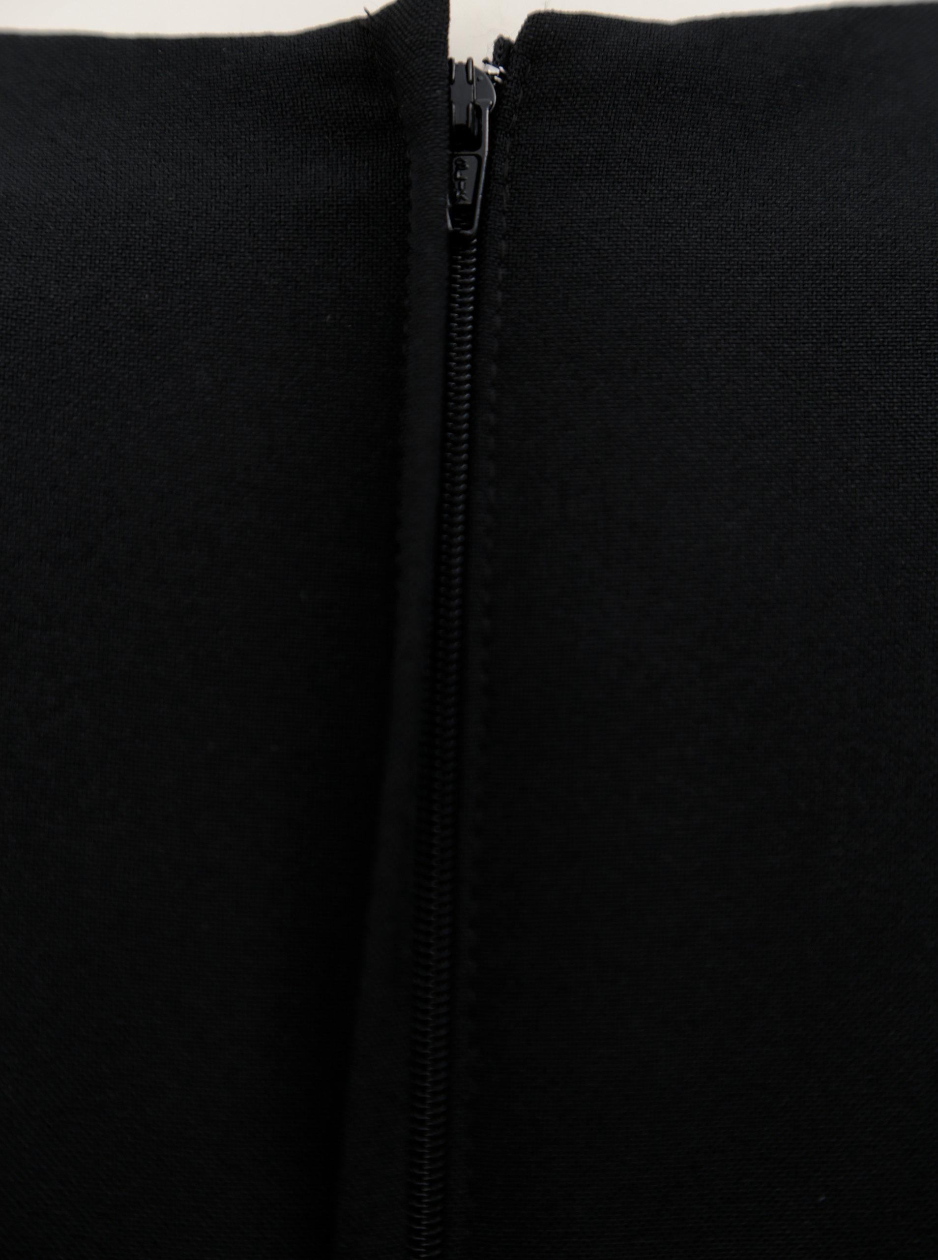 Čierne puzdrové šaty s asymetrickým výstrihom Dorothy Perkins ... 16384c66787
