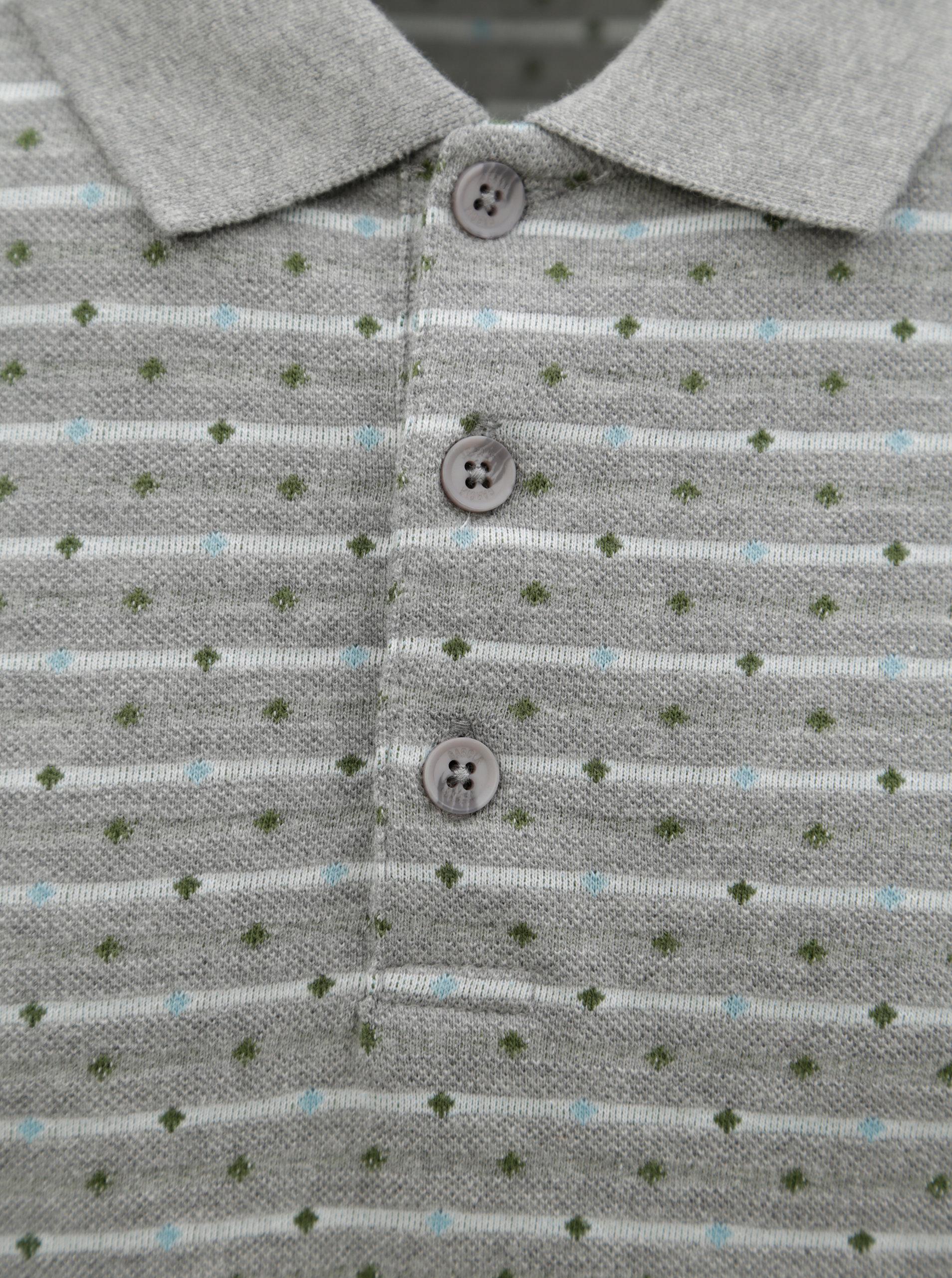 ea8f08ed7a24 Sivá vzorovaná pánska polokošeľa Garcia Jeans ...
