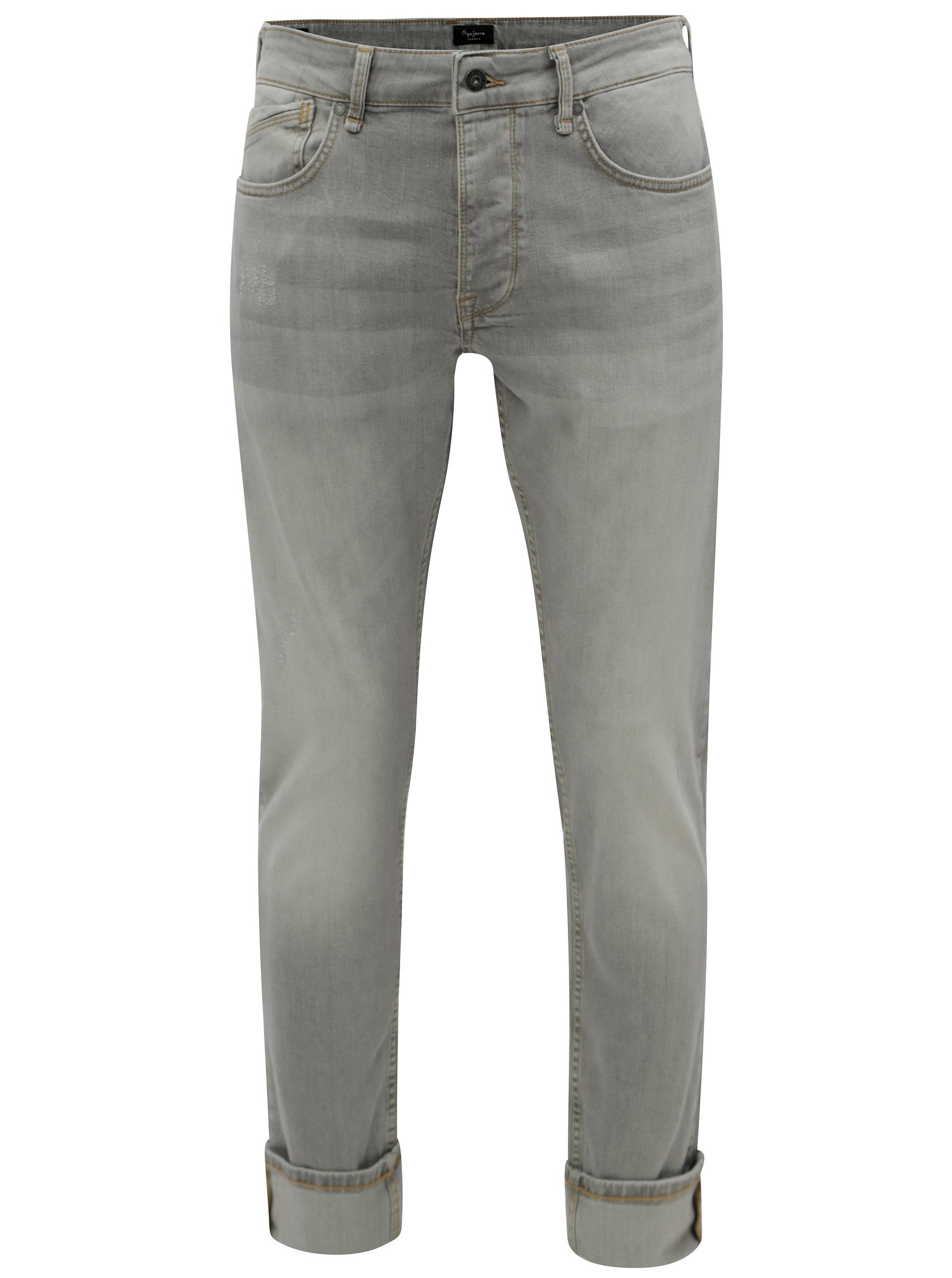 b47bed11457 Světle šedé pánské regular džíny Pepe Jeans Zinc ...