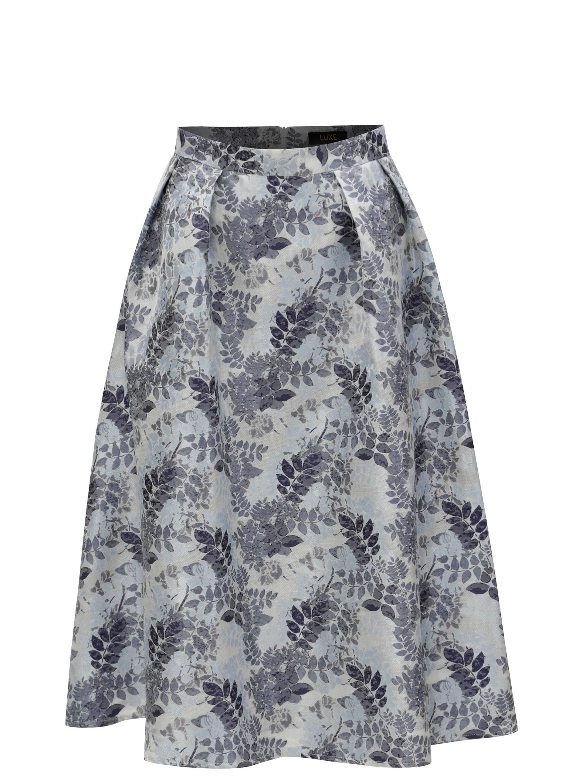 488bc0f4e496 Modrá květovaná sukně Dorothy Perkins ...