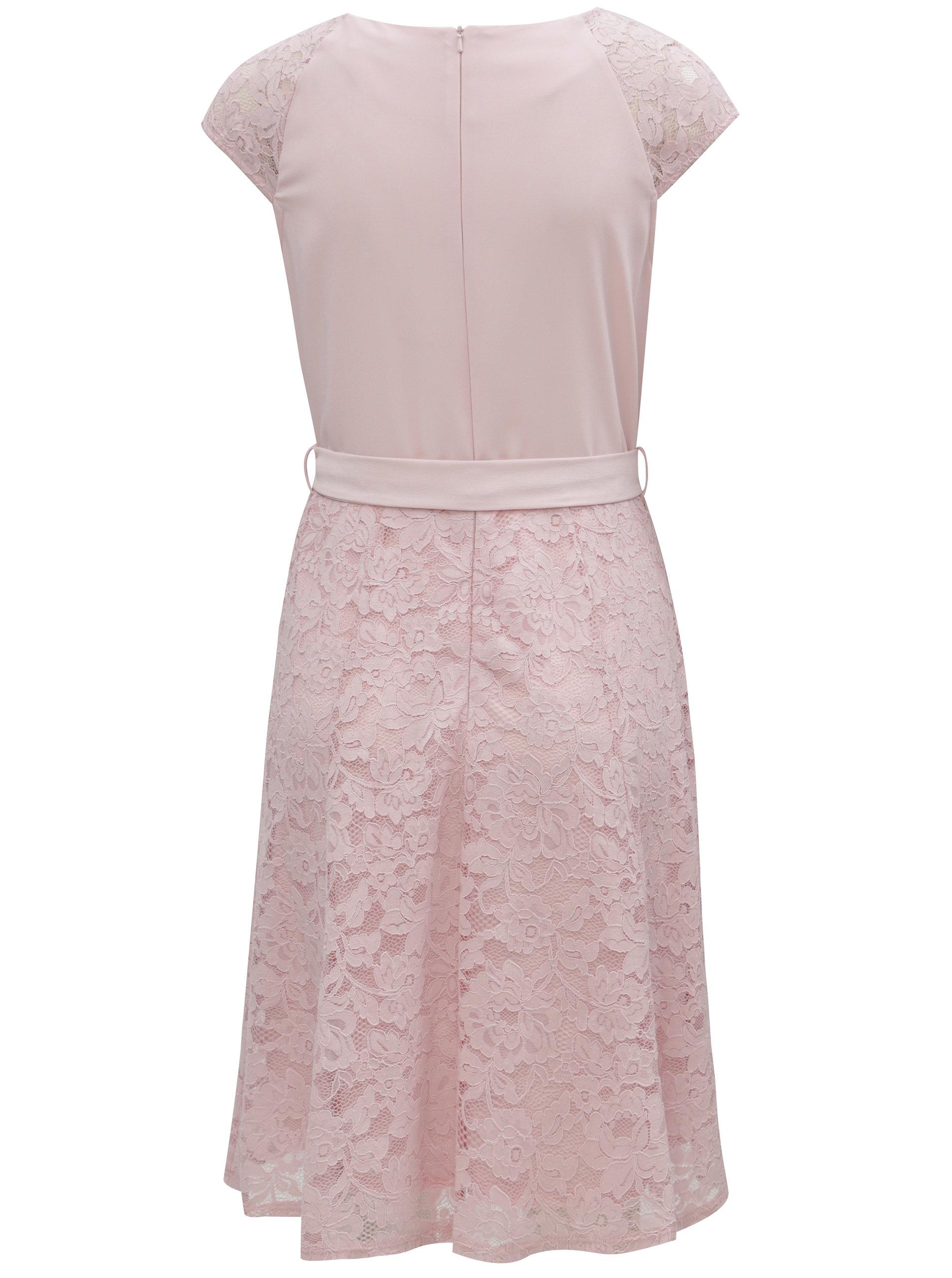 a440731228d Růžové krajkové šaty se zavazováním Billie   Blossom ...