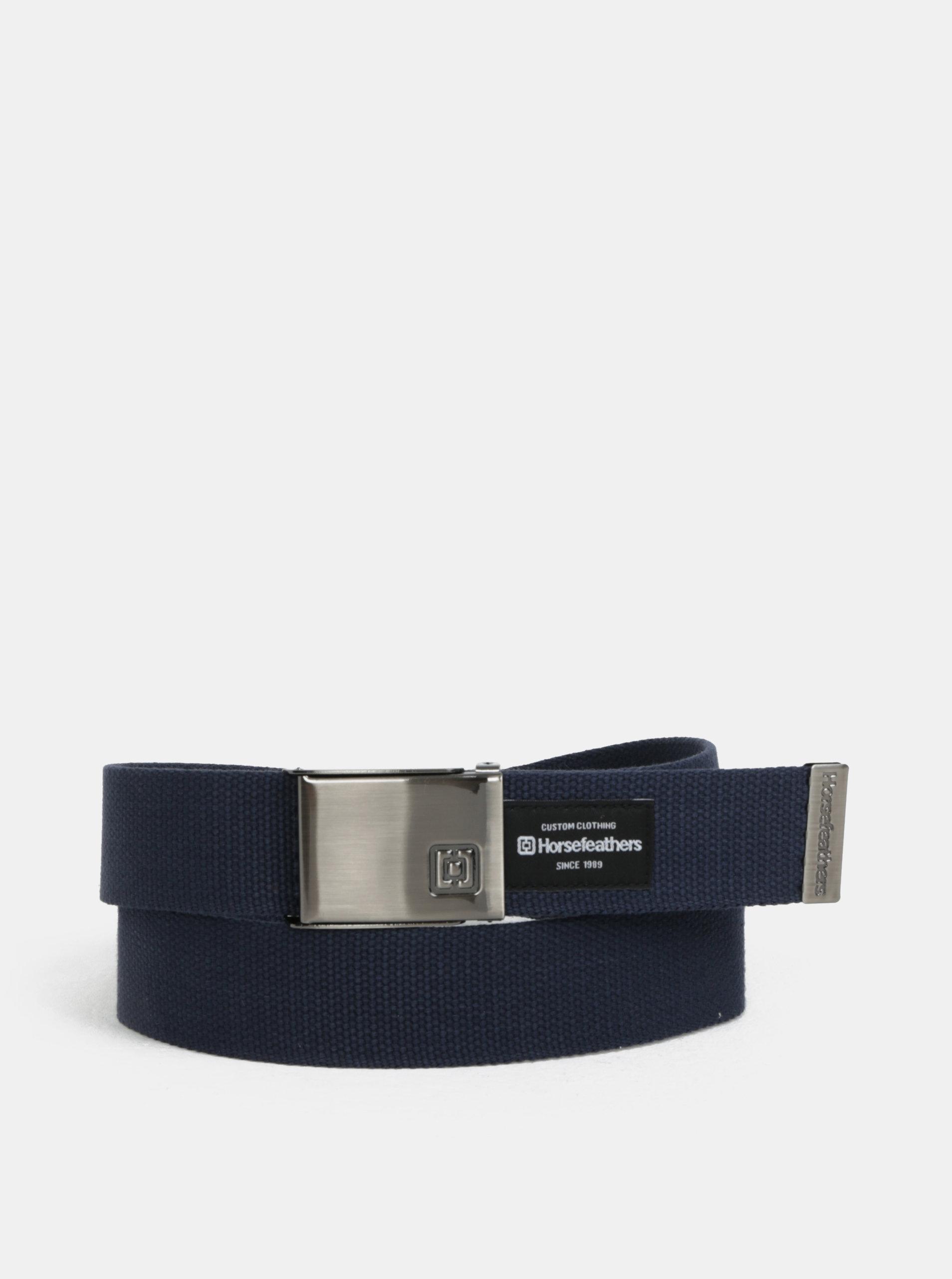 Tmavě modrý pánský pásek Horsefeathers Chad