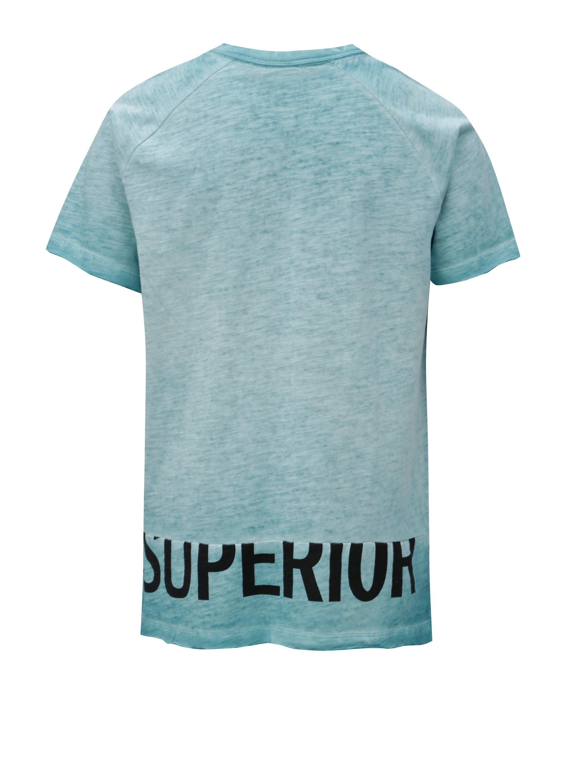 c7ab99032c7d Tyrkysové chlapčenské melírované tričko LIMITED by name it Santo ...