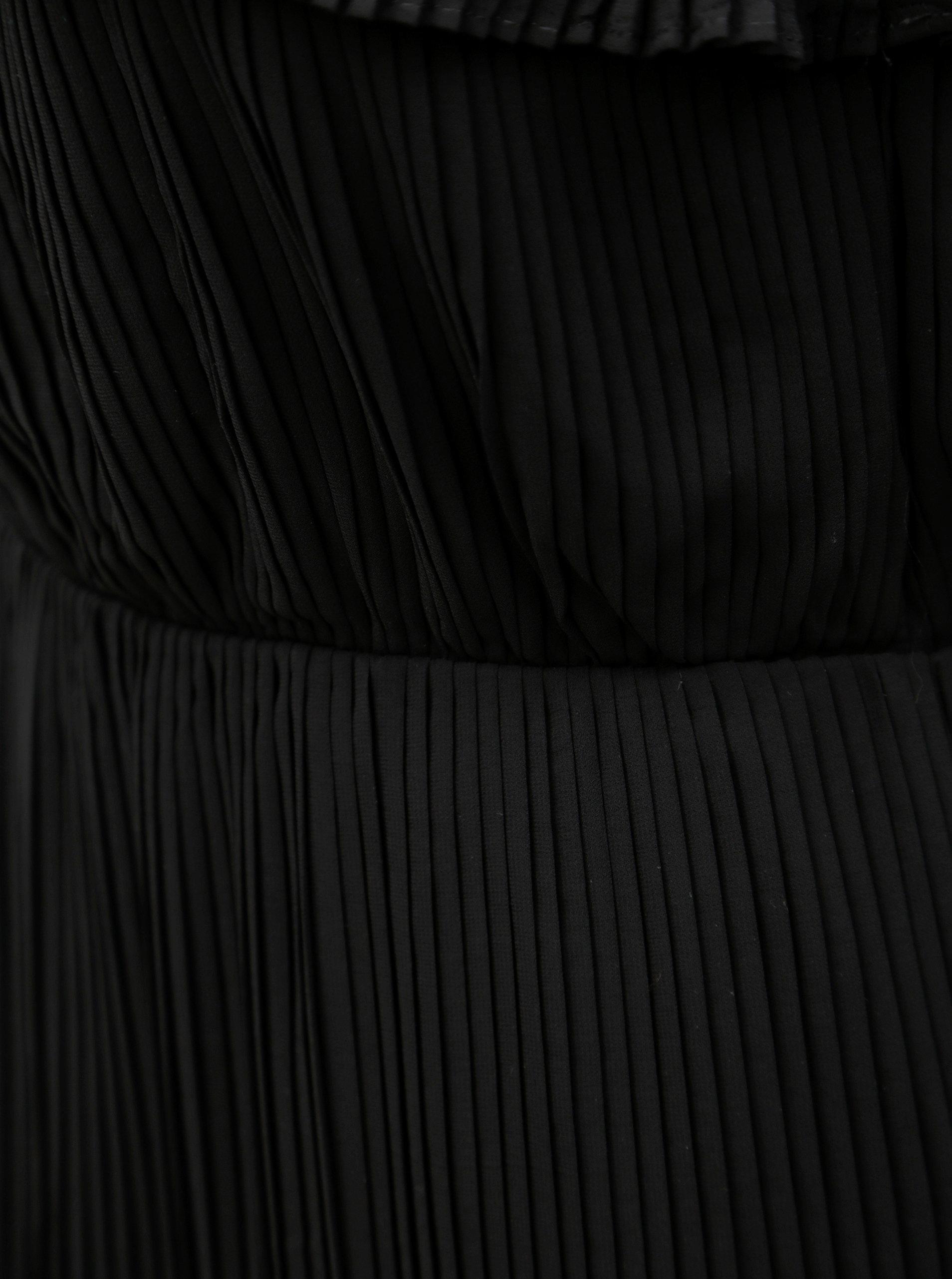 Čierne plisované šaty s čipkou VILA Vivida ... d837aeb601f