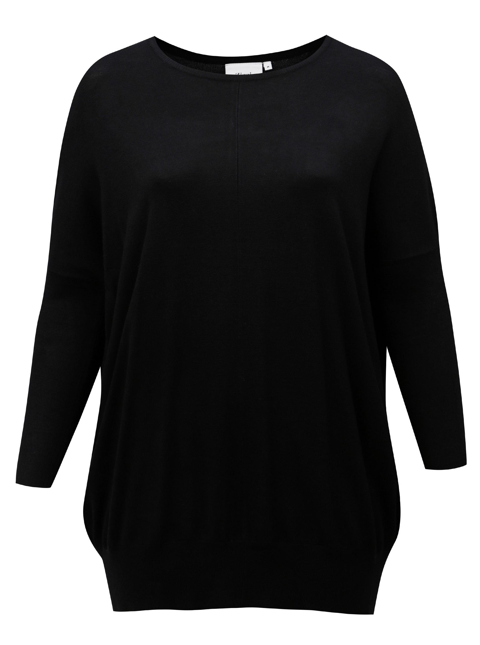 ecd2c85fc3ca Čierny dlhý dámsky sveter Zizzi ...