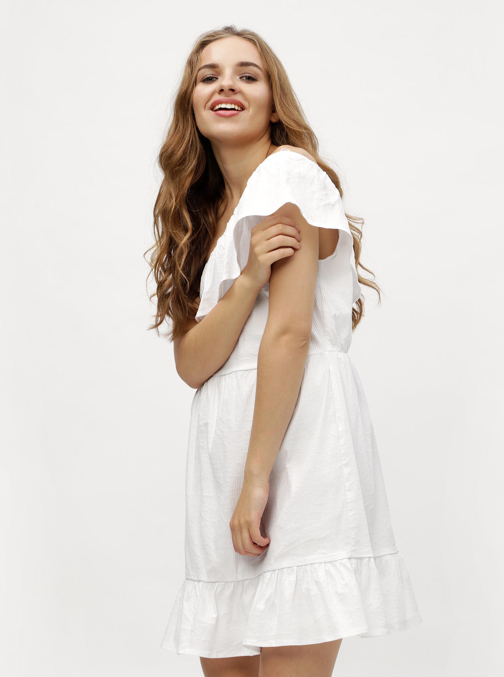 abea48e239fb Biele asymetrické šaty VERO MODA Sia ...