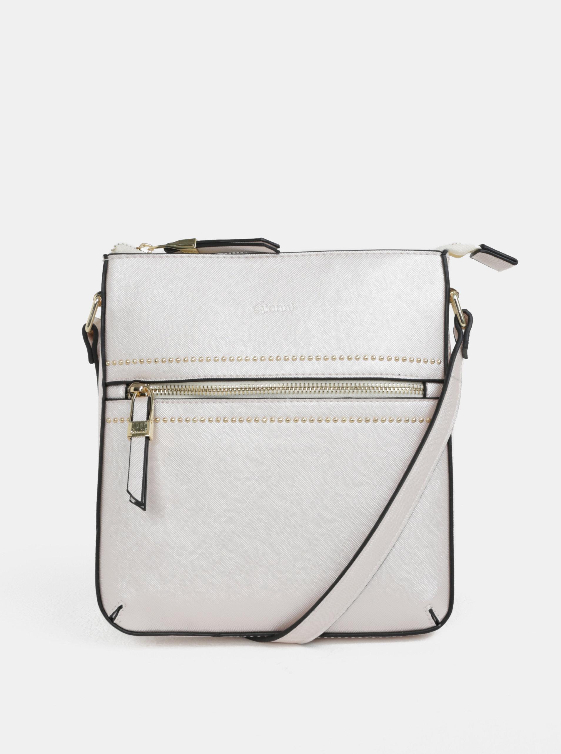 Krémová crossbody kabelka s detaily ve zlaté barvě Gionni Tessa ... 6a778032e1d