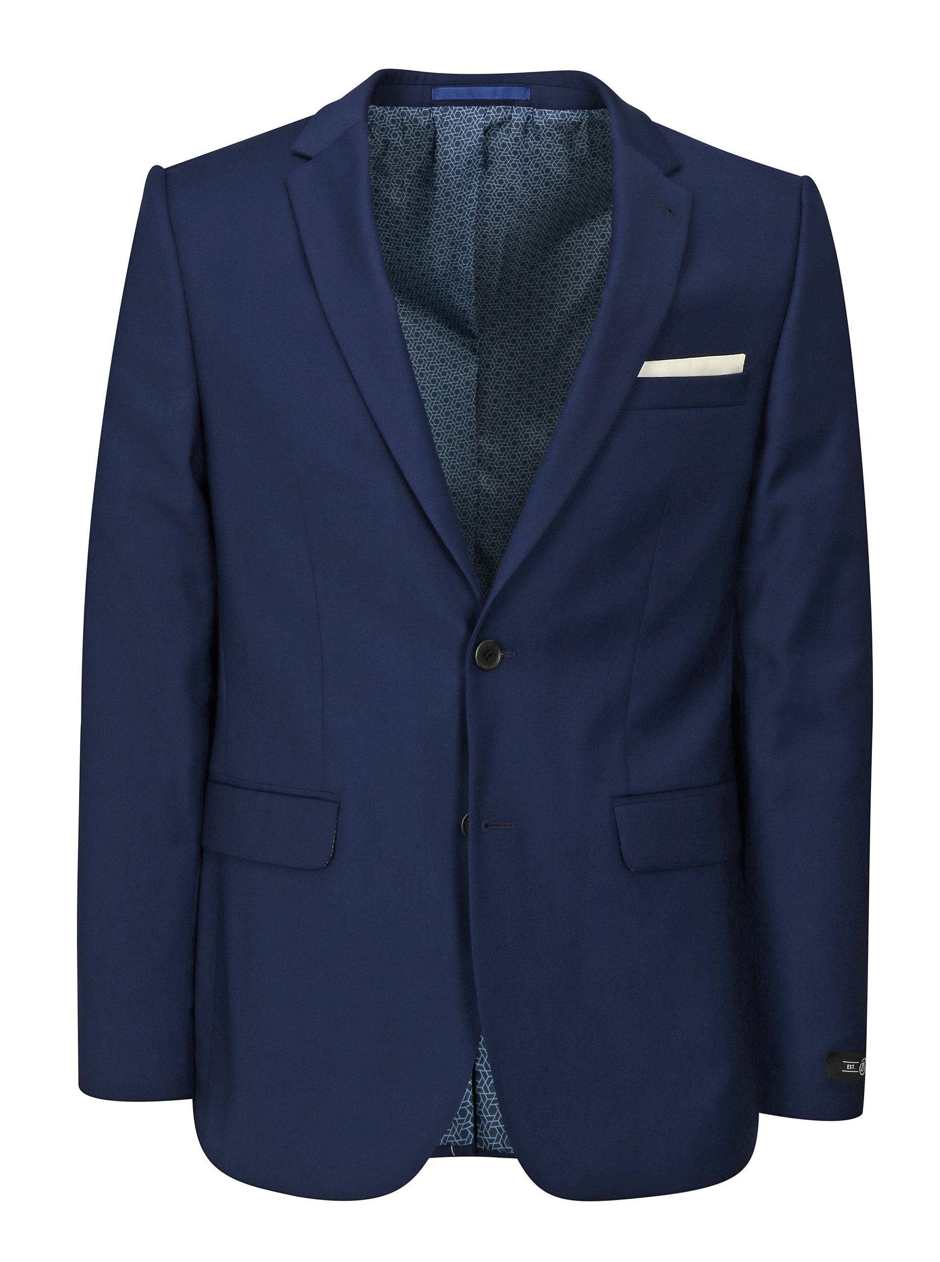 Tmavě modré oblekové skinny sako Burton Menswear London