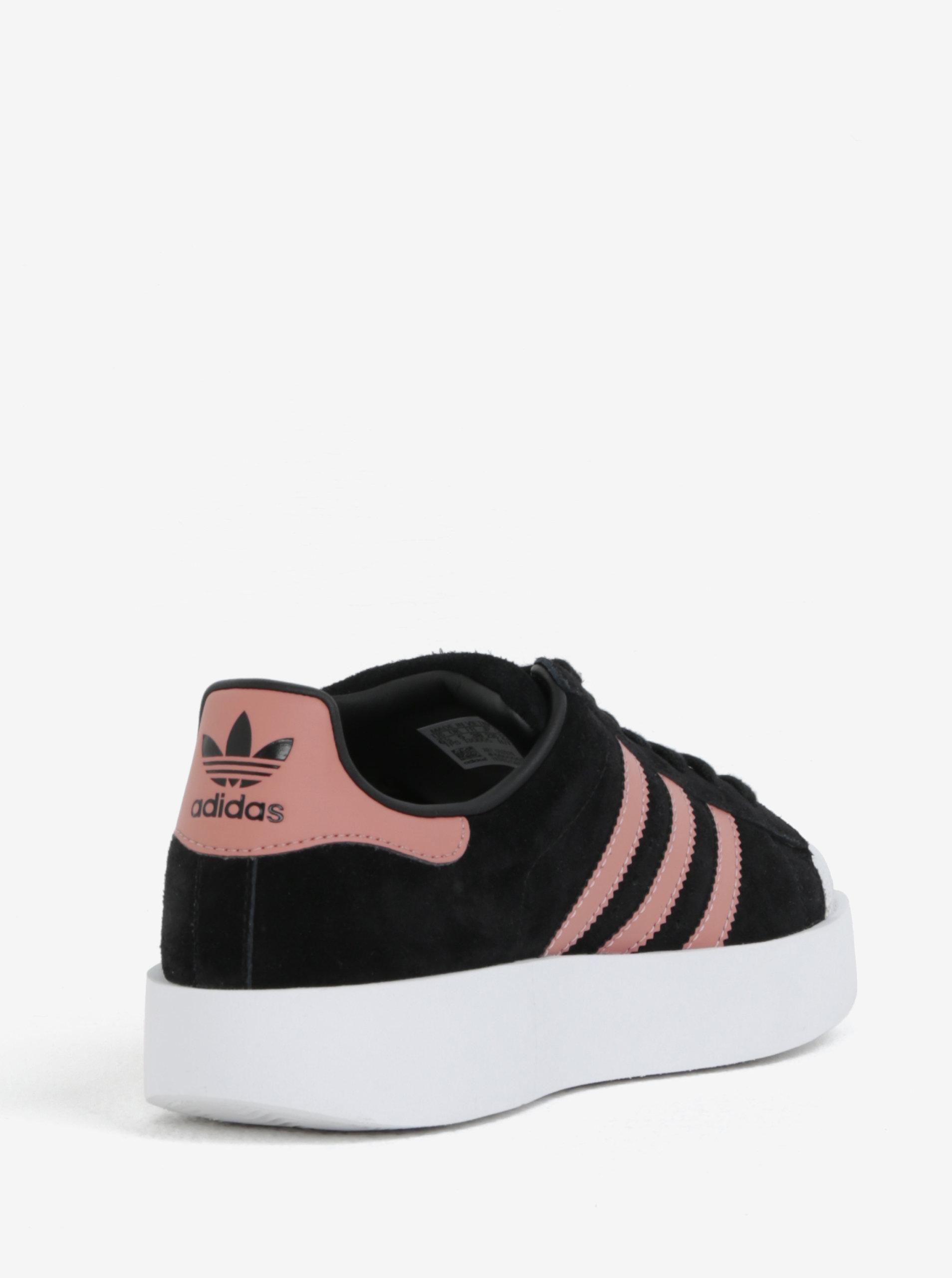 62f63e3a18f3 Ružovo-čierne dámske semišové tenisky na platforme adidas Originals  Superstar ...
