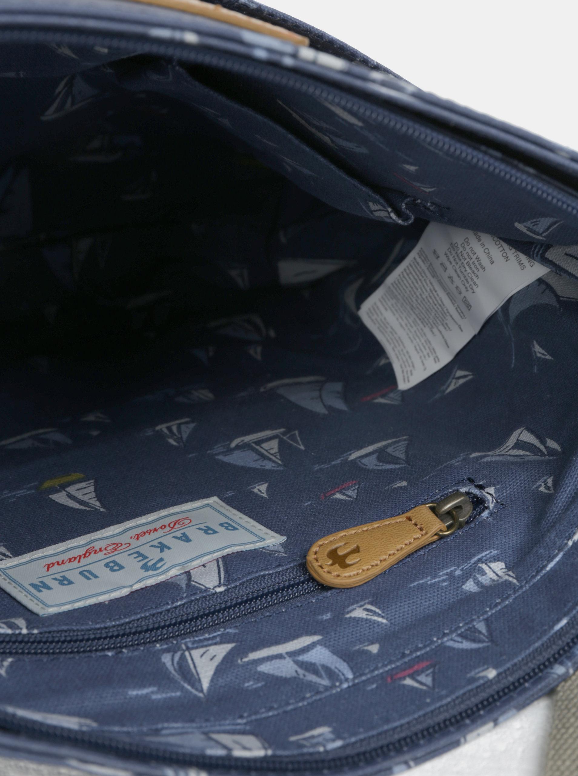 Tmavě modrá crossbody kabelka s motivem plachetnic Brakeburn ... 9e6133d9963