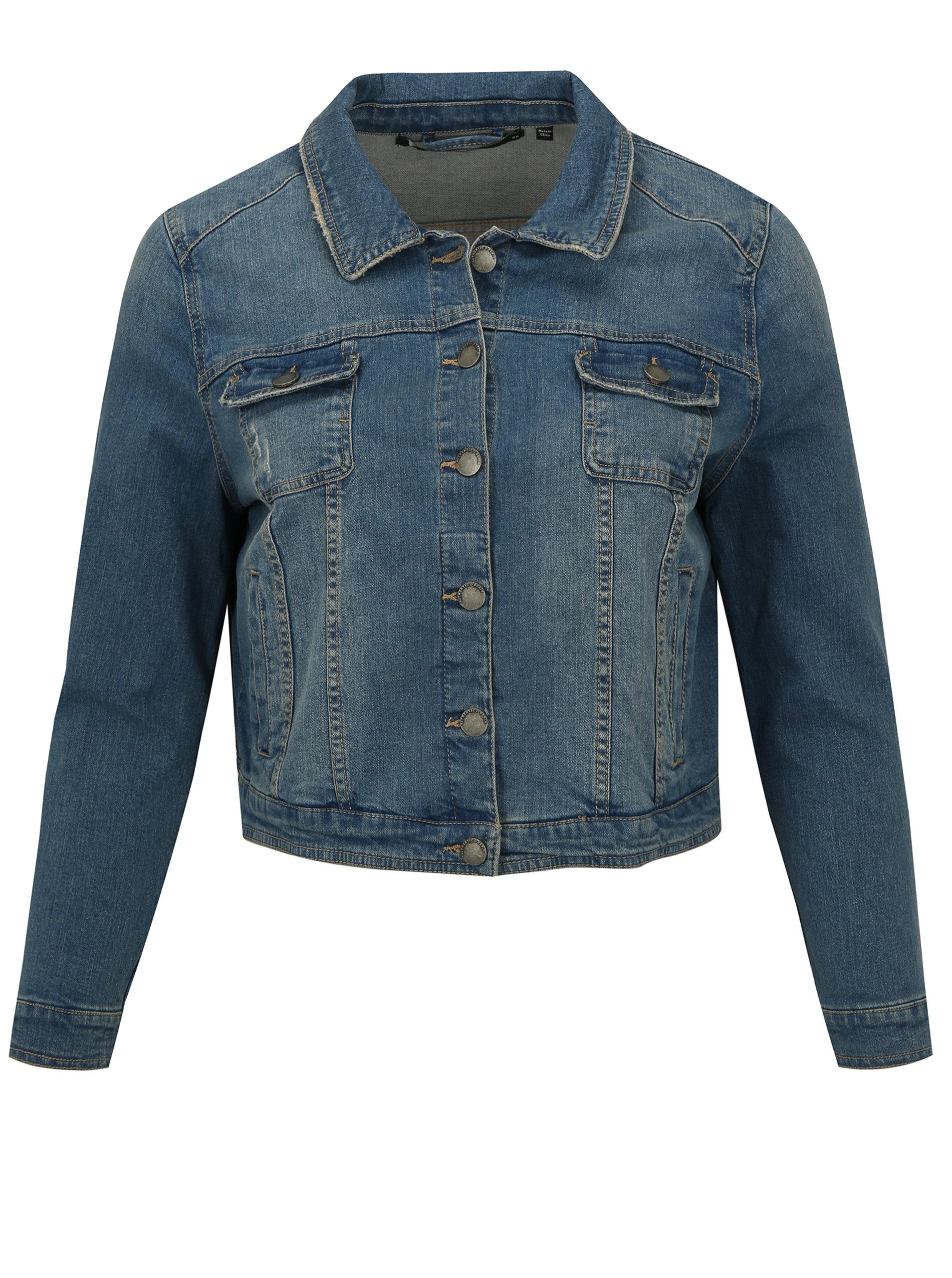 Světle modrá krátká džínová bunda simply be.